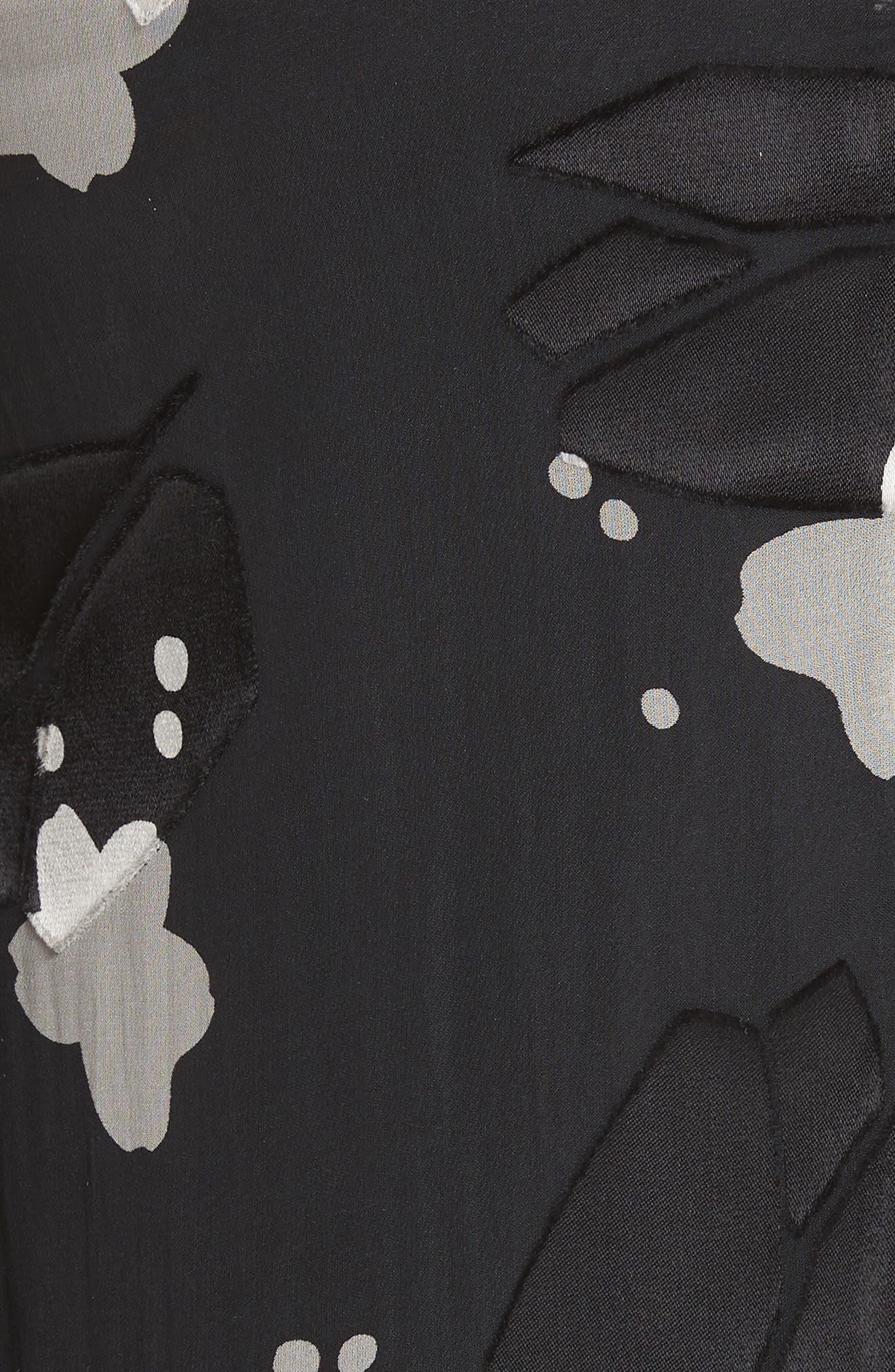 Blouse,                             Alternate thumbnail 5, color,                             BLACK