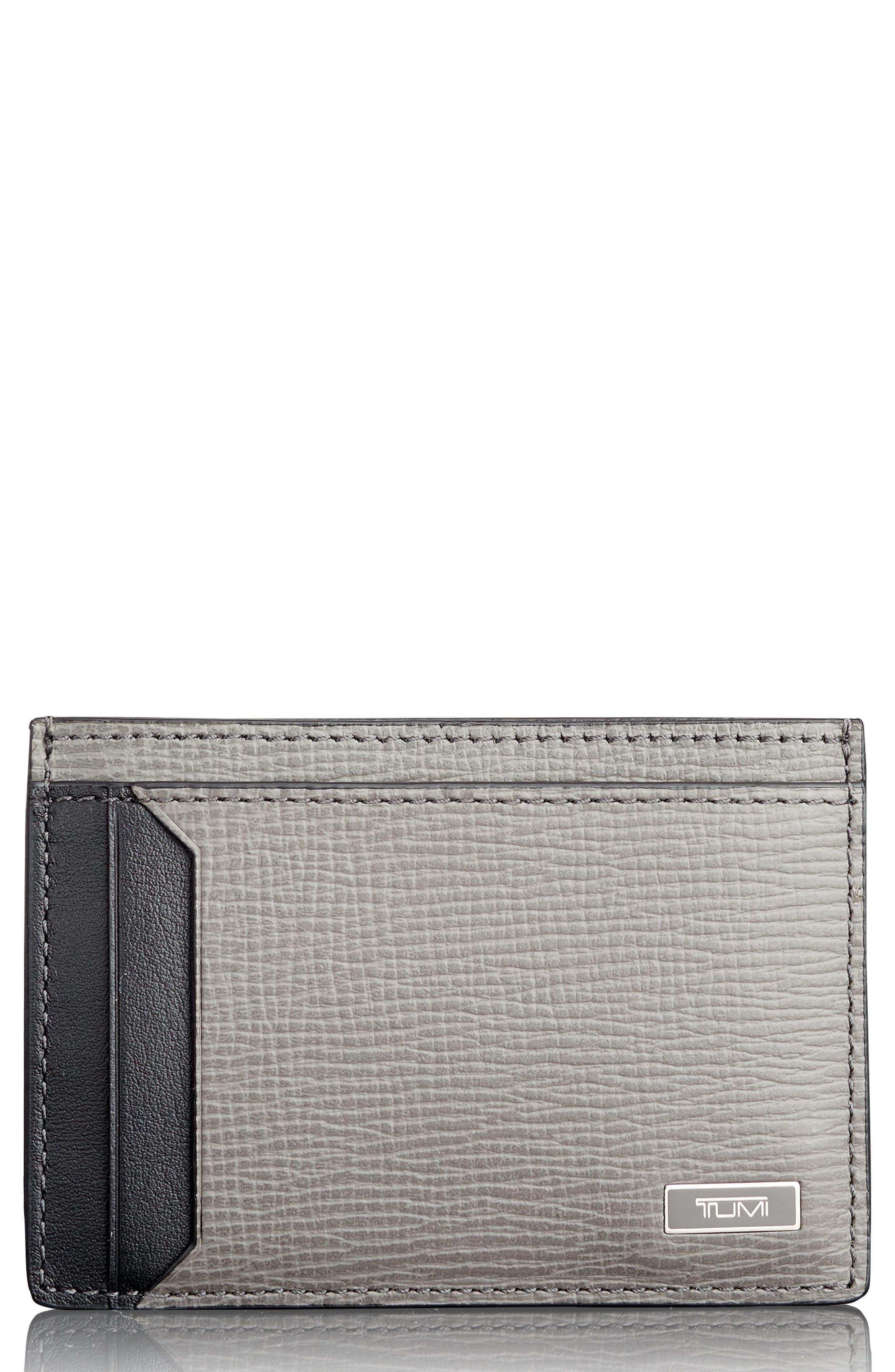 Monaco Leather RFID Money Clip Card Case,                         Main,                         color, 020