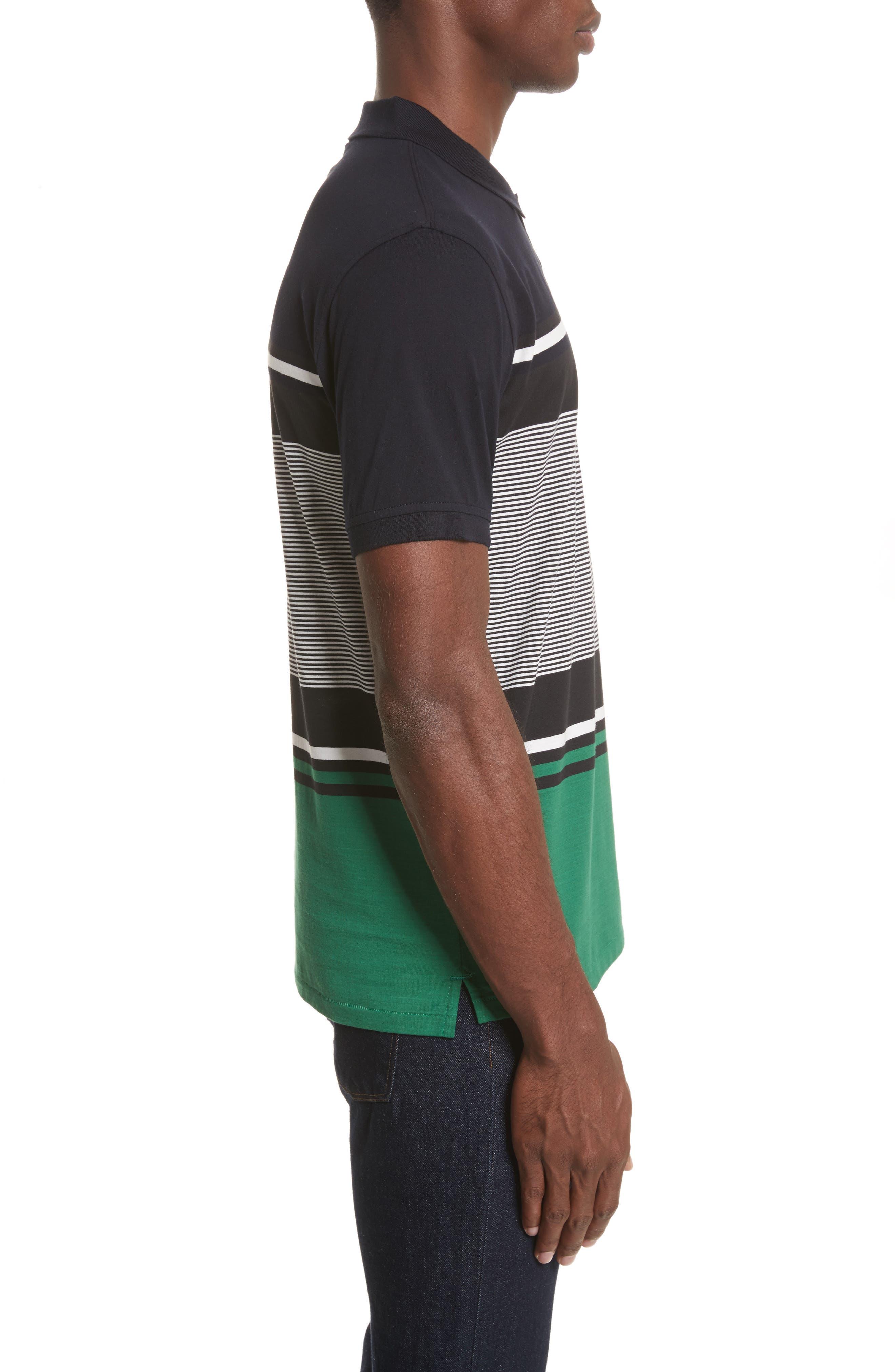 Stripe Jersey Polo,                             Alternate thumbnail 3, color,                             410
