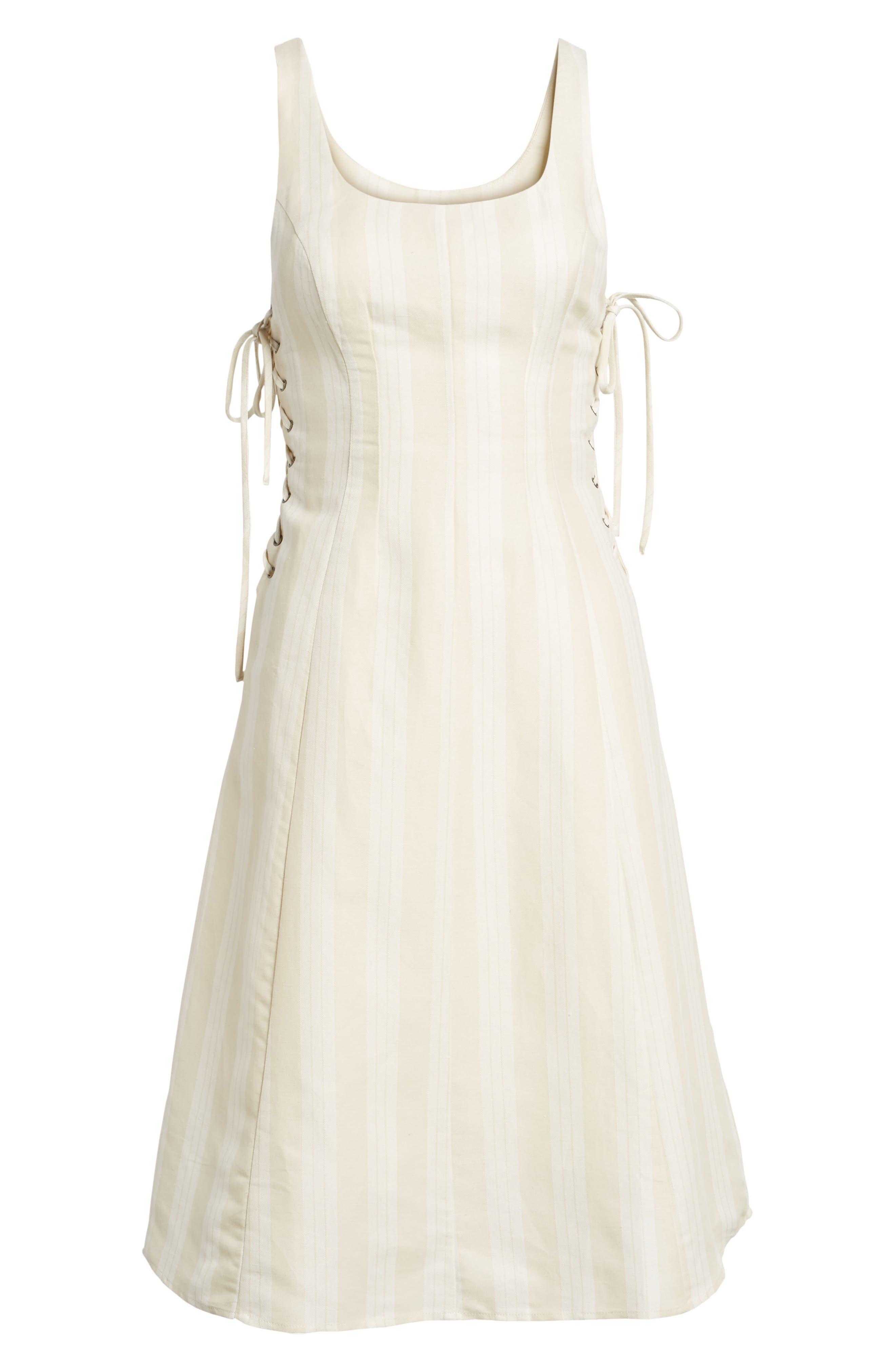 Elena Lace Side Dress,                             Alternate thumbnail 6, color,                             250