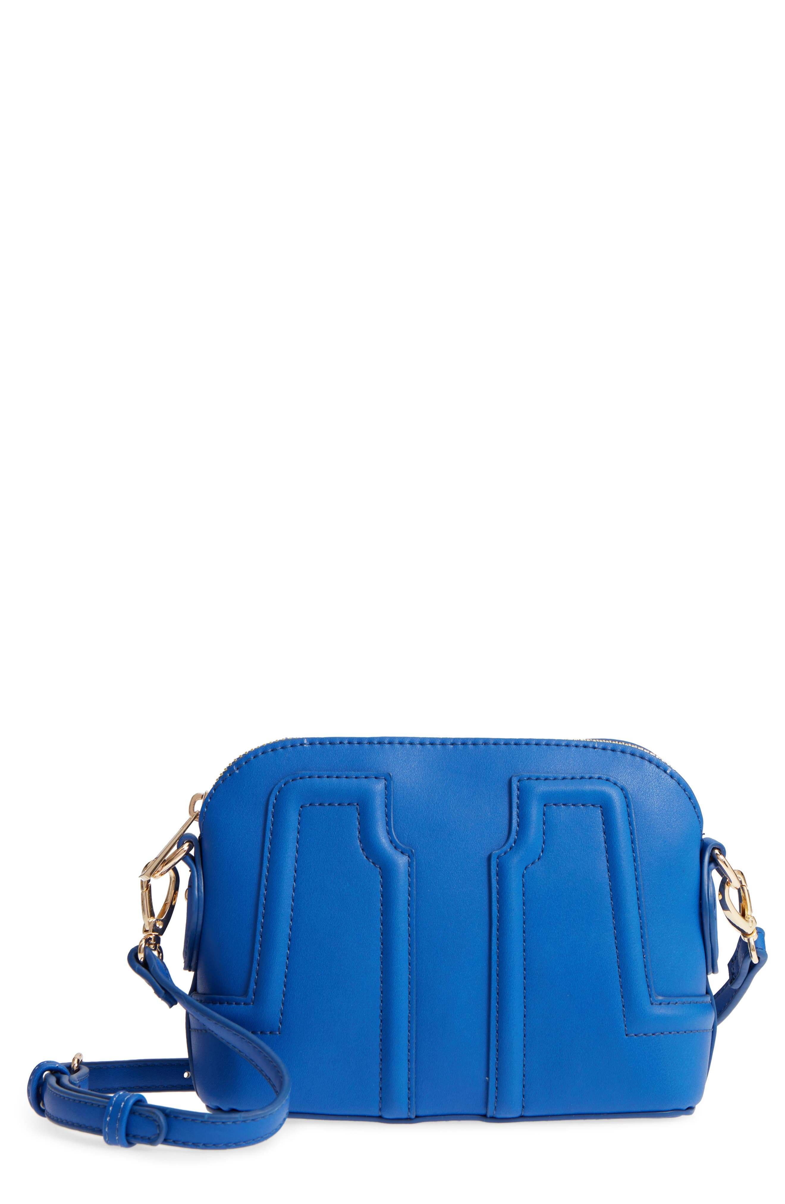 Structured Faux Leather Dome Crossbody,                             Main thumbnail 2, color,