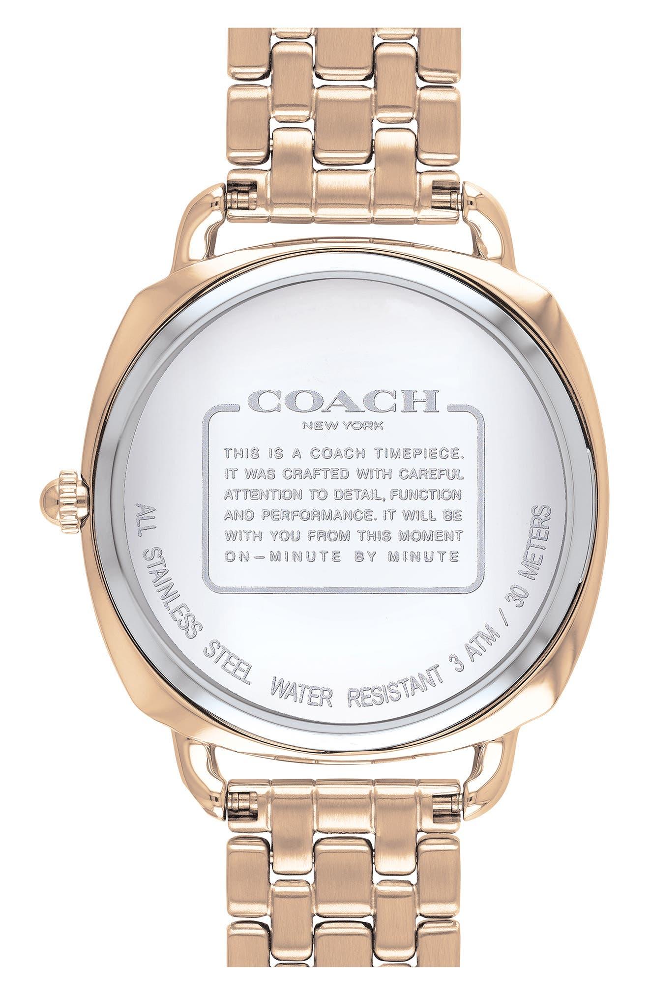 Tatum Slim Bracelet Watch, 36mm,                             Alternate thumbnail 2, color,                             ROSE GOLD/ SILVER