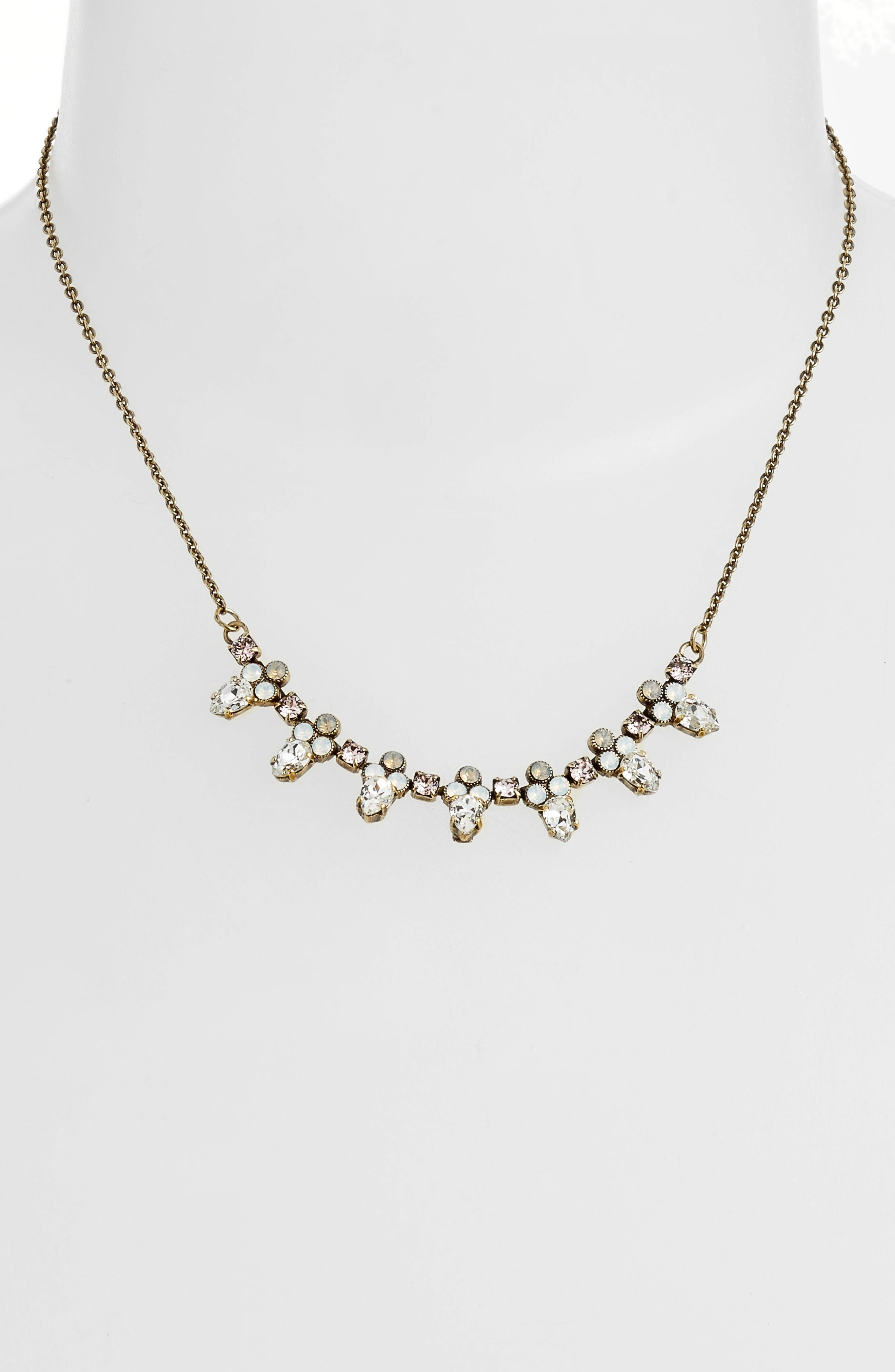 Twinkling Thistle Crystal Necklace,                             Alternate thumbnail 8, color,