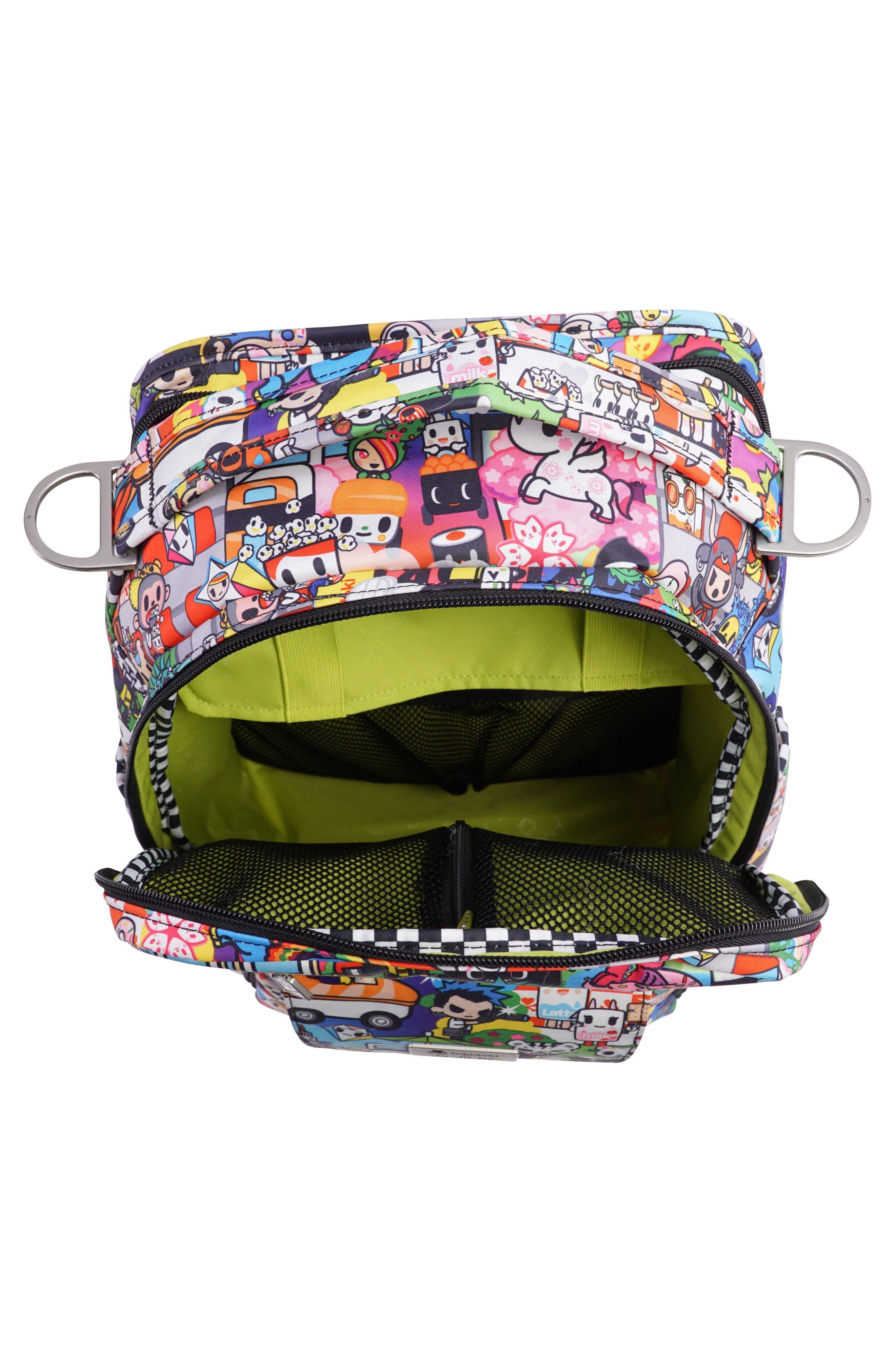 tokidoki x Ju-Ju-Be 'Be Right Back' Diaper Backpack,                             Alternate thumbnail 5, color,                             SUSHI CARS
