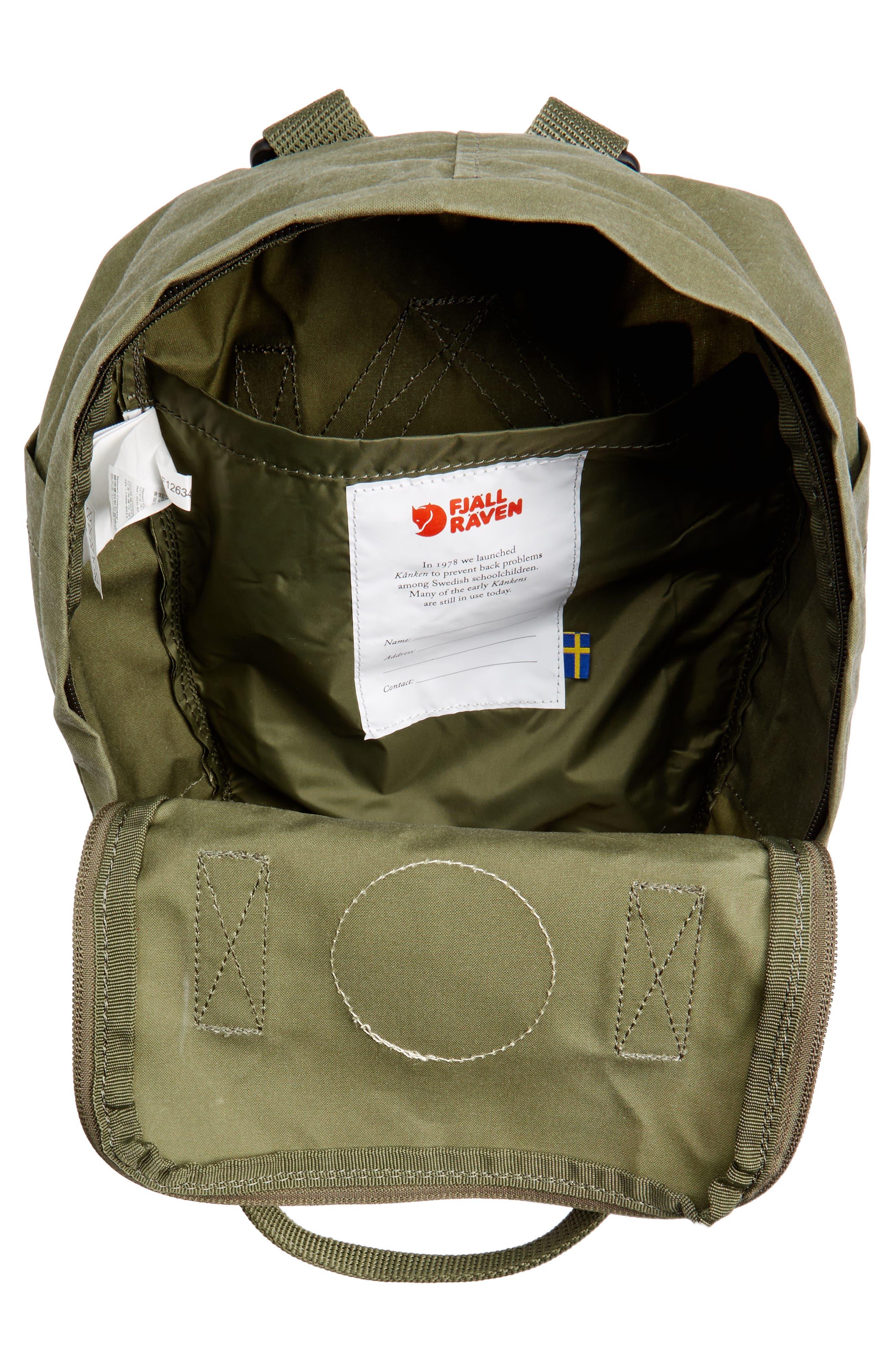 'Mini Kånken' Water Resistant Backpack,                             Alternate thumbnail 4, color,                             GREEN