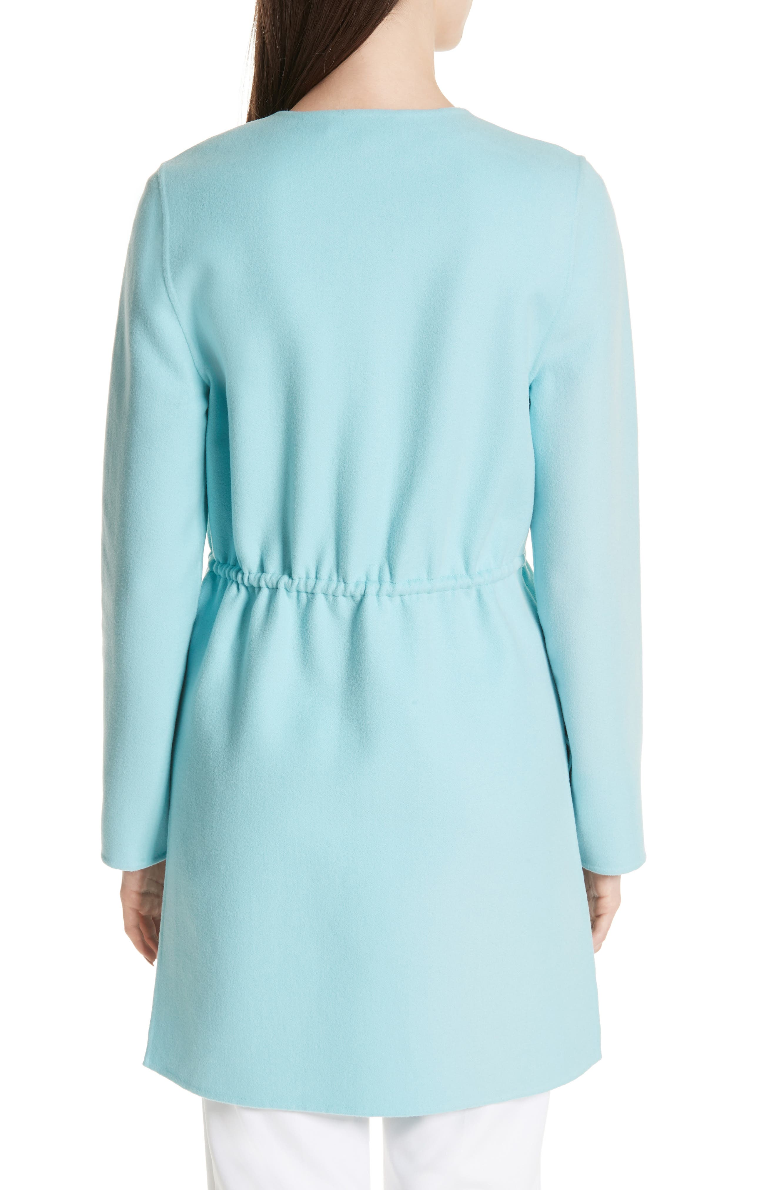 ST. JOHN COLLECTION,                             Double Face Wool & Cashmere Jacket,                             Alternate thumbnail 2, color,                             AQUAMARINE