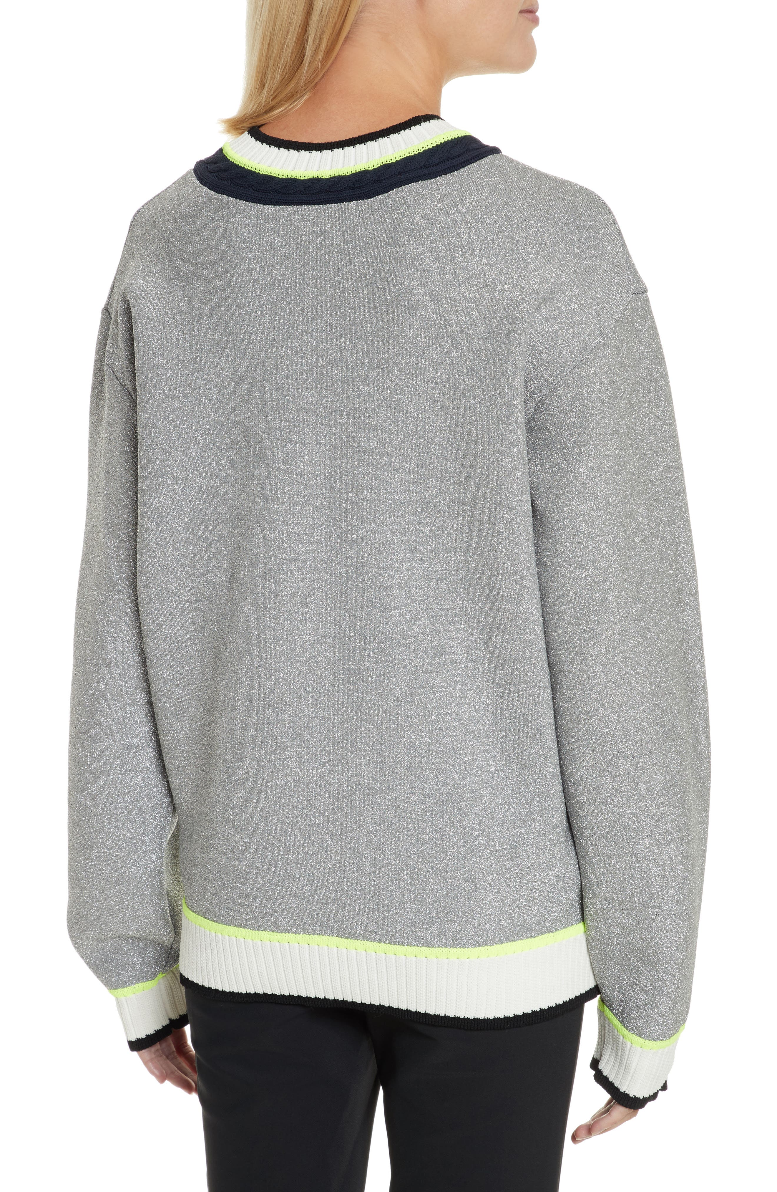 Sport Cable Neck Sweater,                             Alternate thumbnail 2, color,
