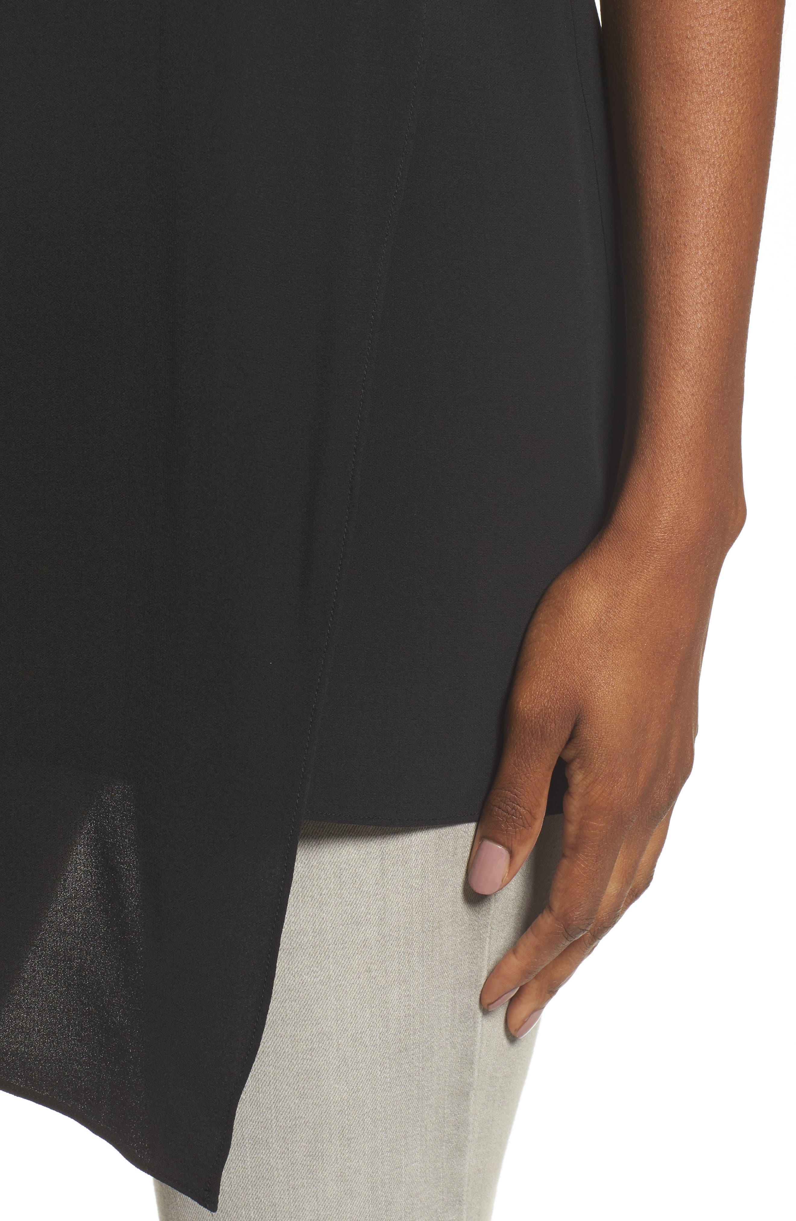Asymmetrical Silk Tunic,                             Alternate thumbnail 4, color,                             001