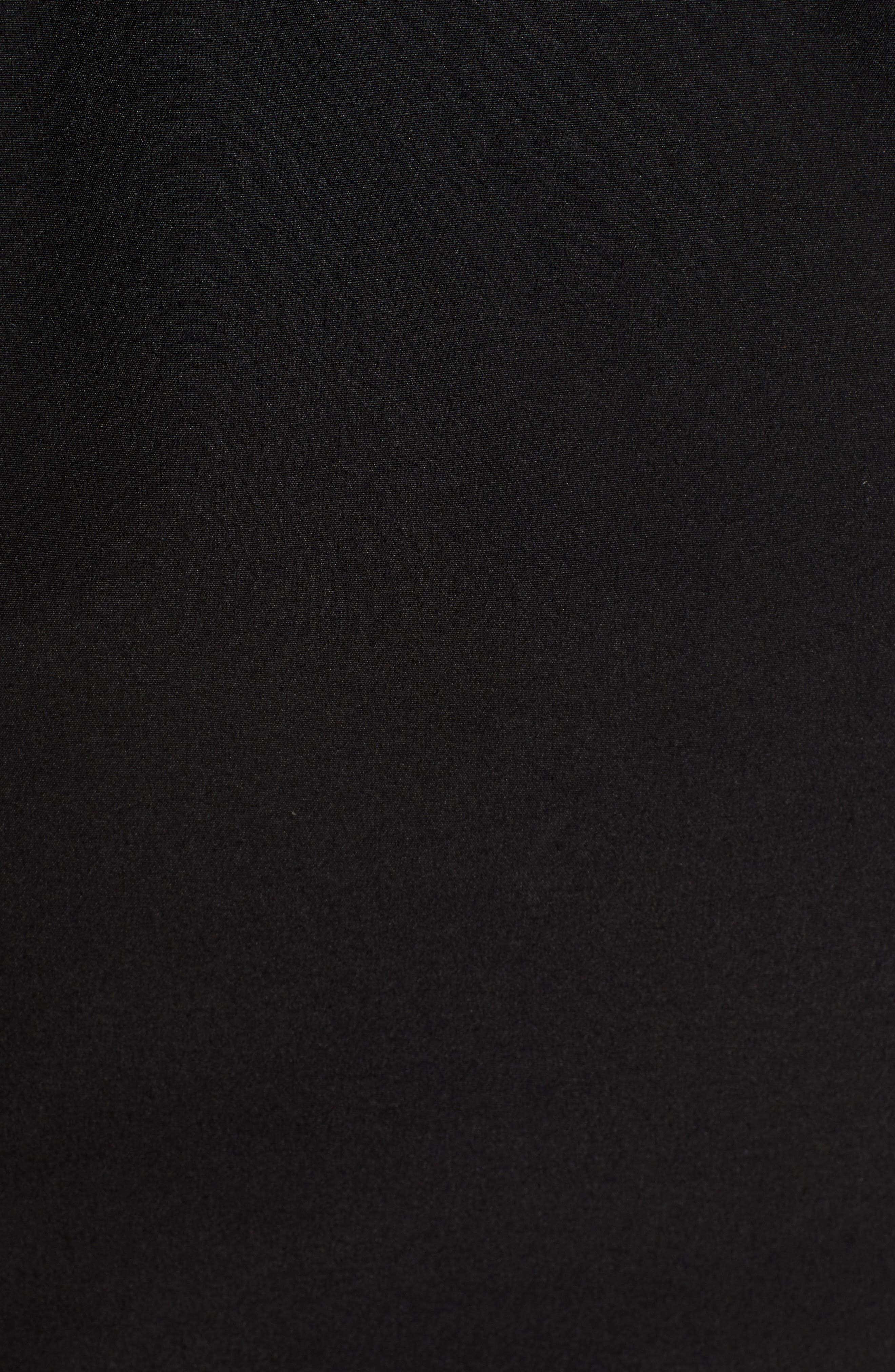 Faux Fur Trim Canvas Parka,                             Alternate thumbnail 7, color,                             BLACK