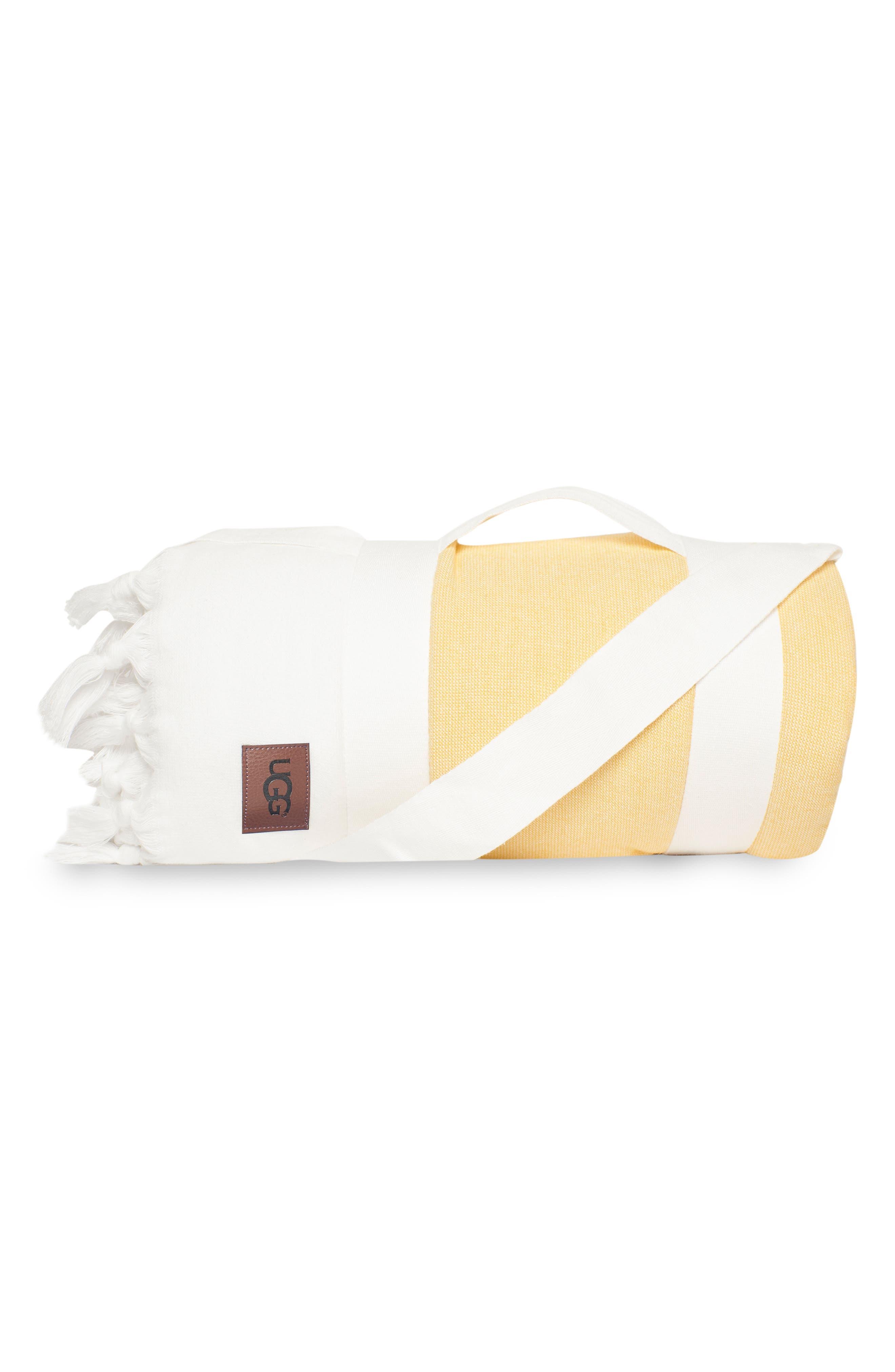 Surf Stripe Beach Blanket,                         Main,                         color, BRIGHT WHITE