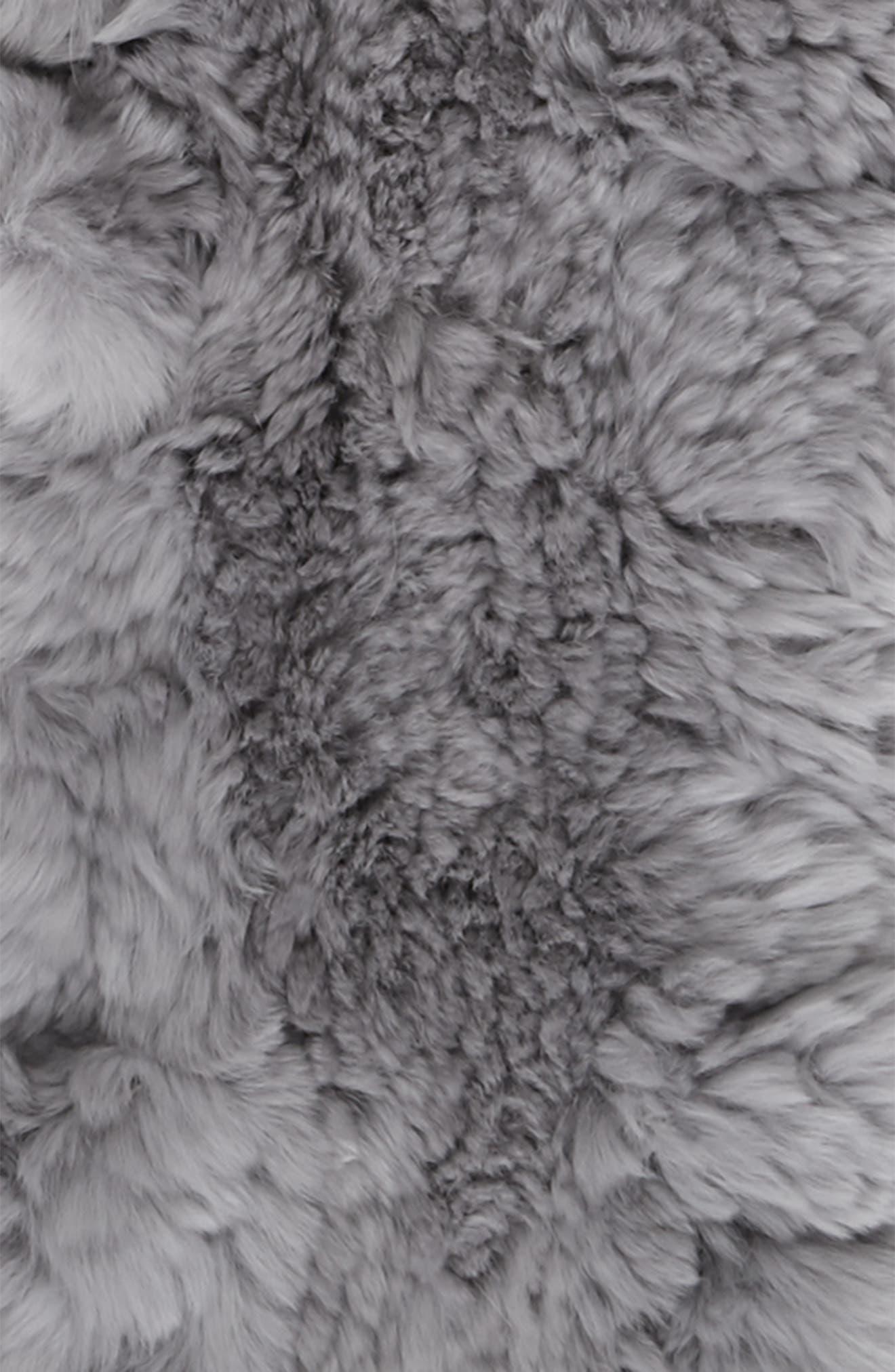 Genuine Rabbit Fur Scarf,                             Alternate thumbnail 3, color,                             040