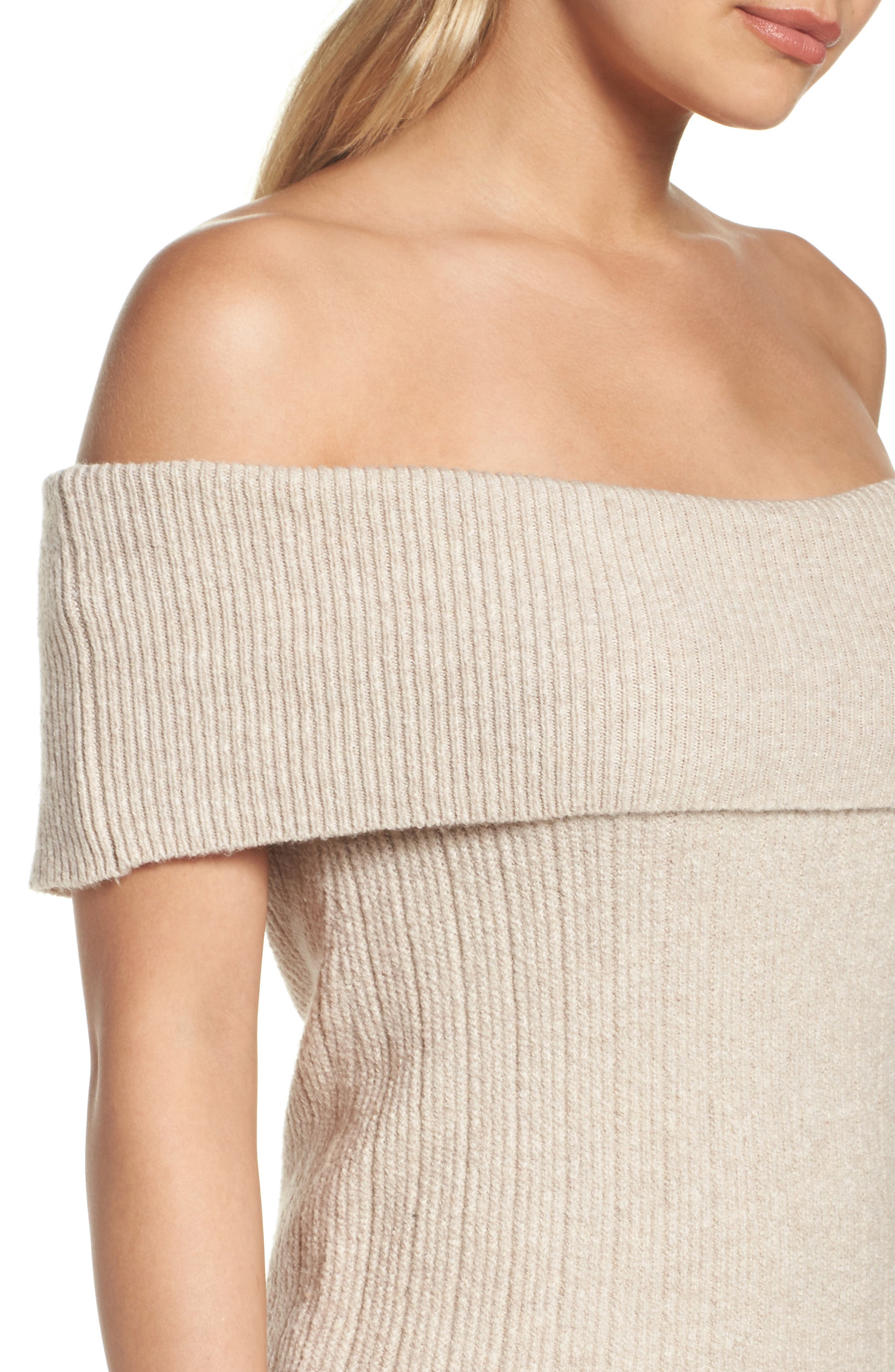 Porter Off the Shoulder Sheath Dress,                             Alternate thumbnail 8, color,