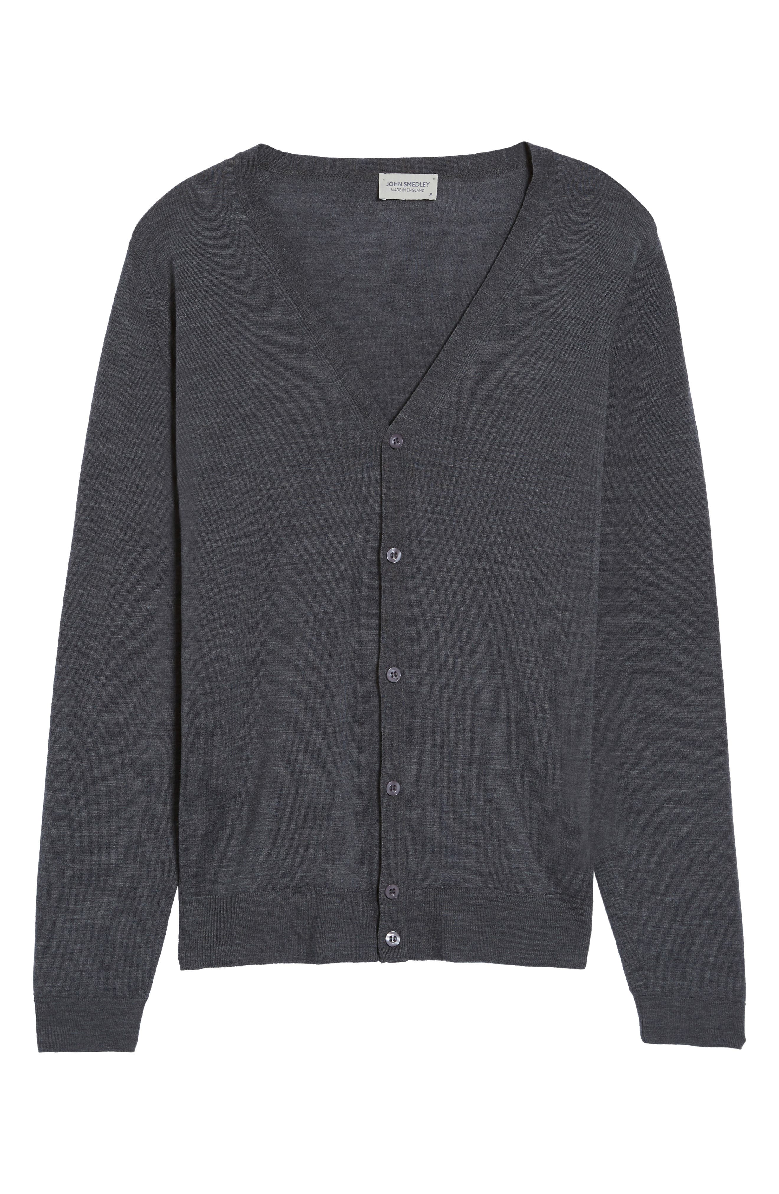 Standard Fit Wool Cardigan,                             Alternate thumbnail 6, color,                             020