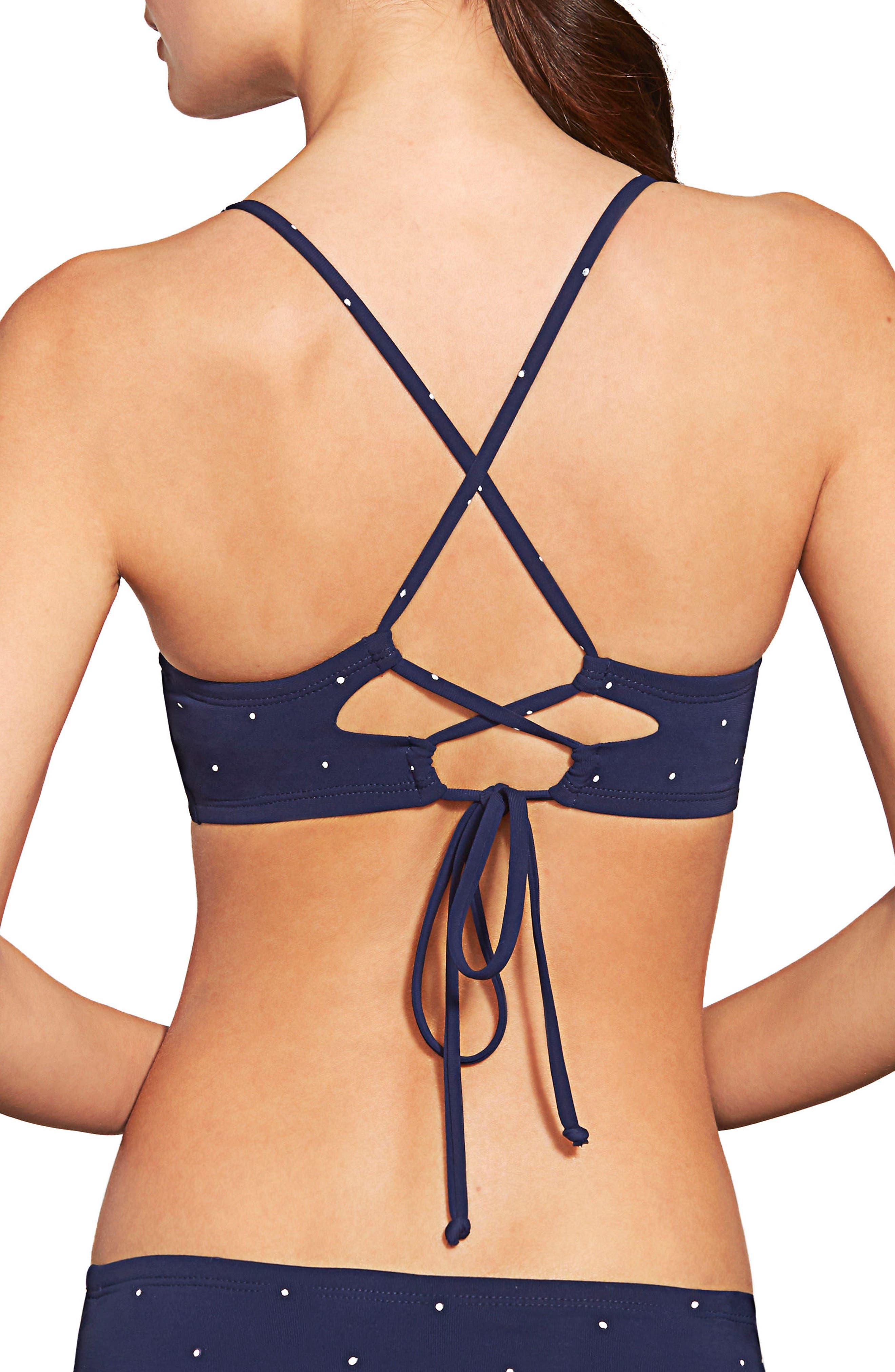 Jennie Twist Bikini Top,                             Alternate thumbnail 2, color,                             NAVY