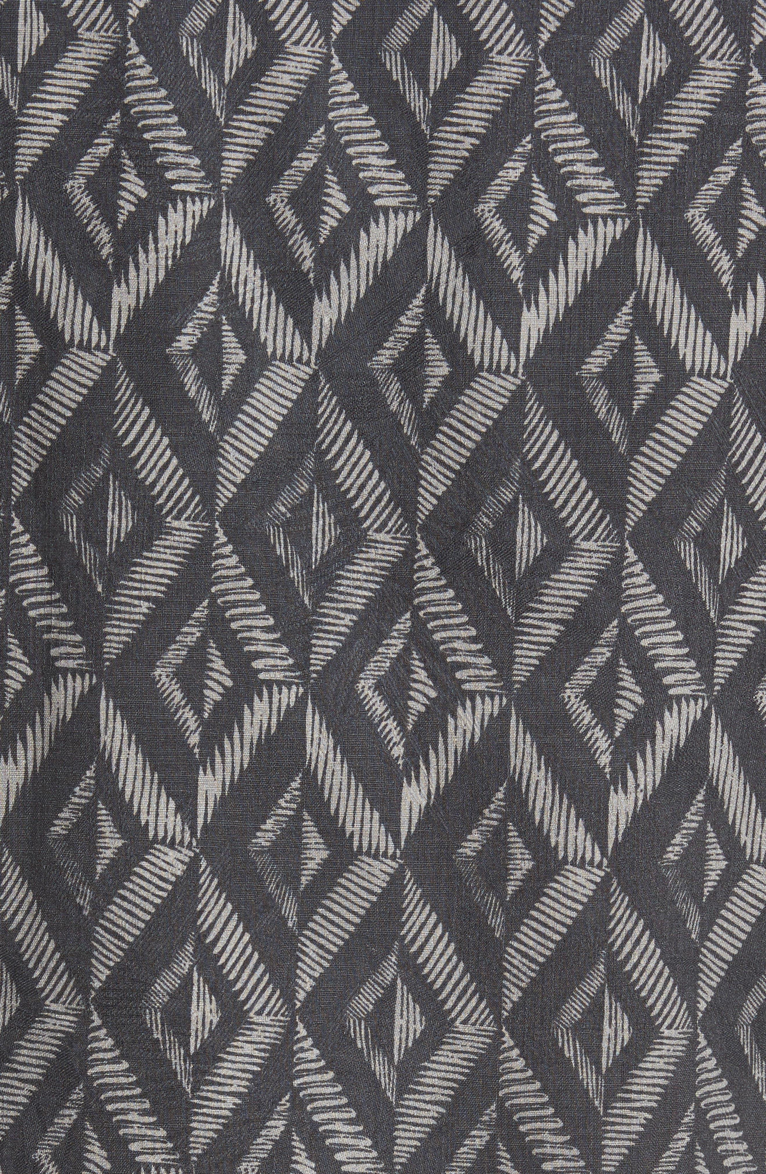 Diamond Tiles Standard Fit Silk Blend Camp Shirt,                             Alternate thumbnail 5, color,