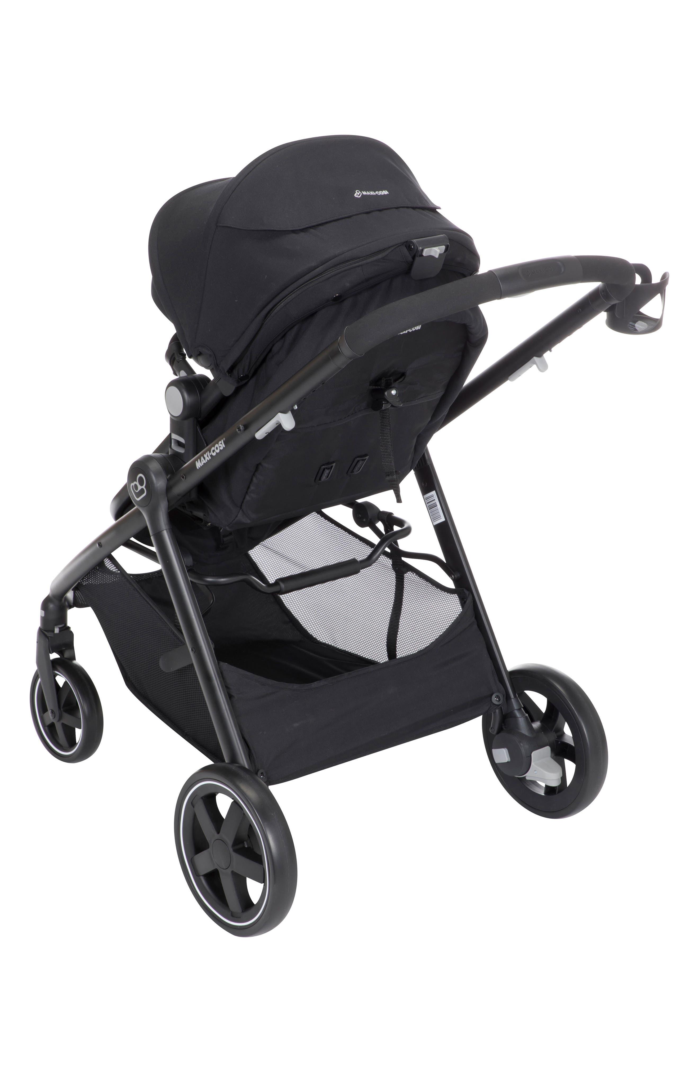 5-1 Mico 30 Infant Car Seat & Zelia Stroller Modular Travel System,                             Alternate thumbnail 5, color,                             NIGHT BLACK