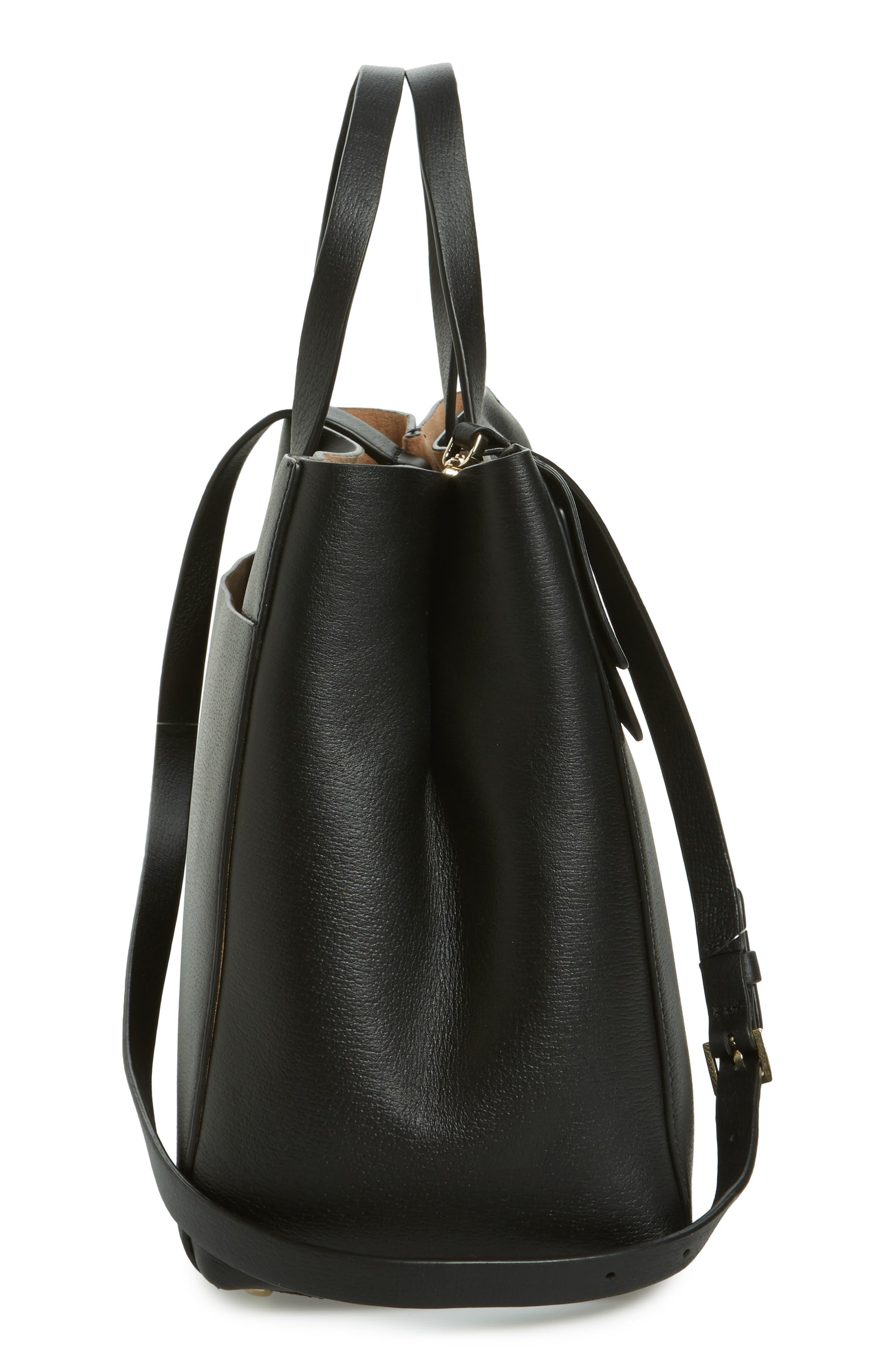 olive drive - brigette leather satchel,                             Alternate thumbnail 5, color,                             001