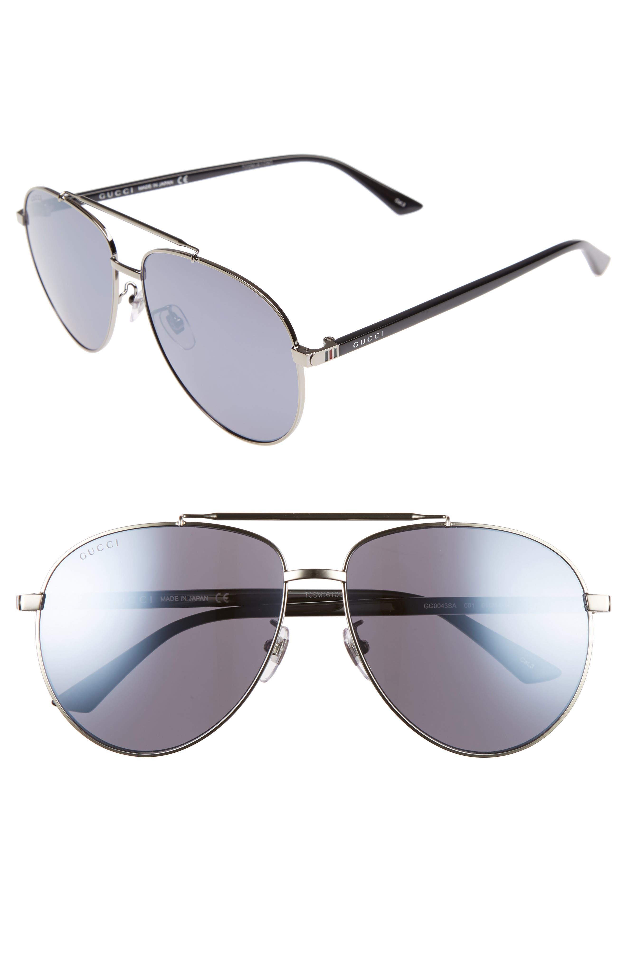 61mm Aviator Sunglasses,                         Main,                         color, 040