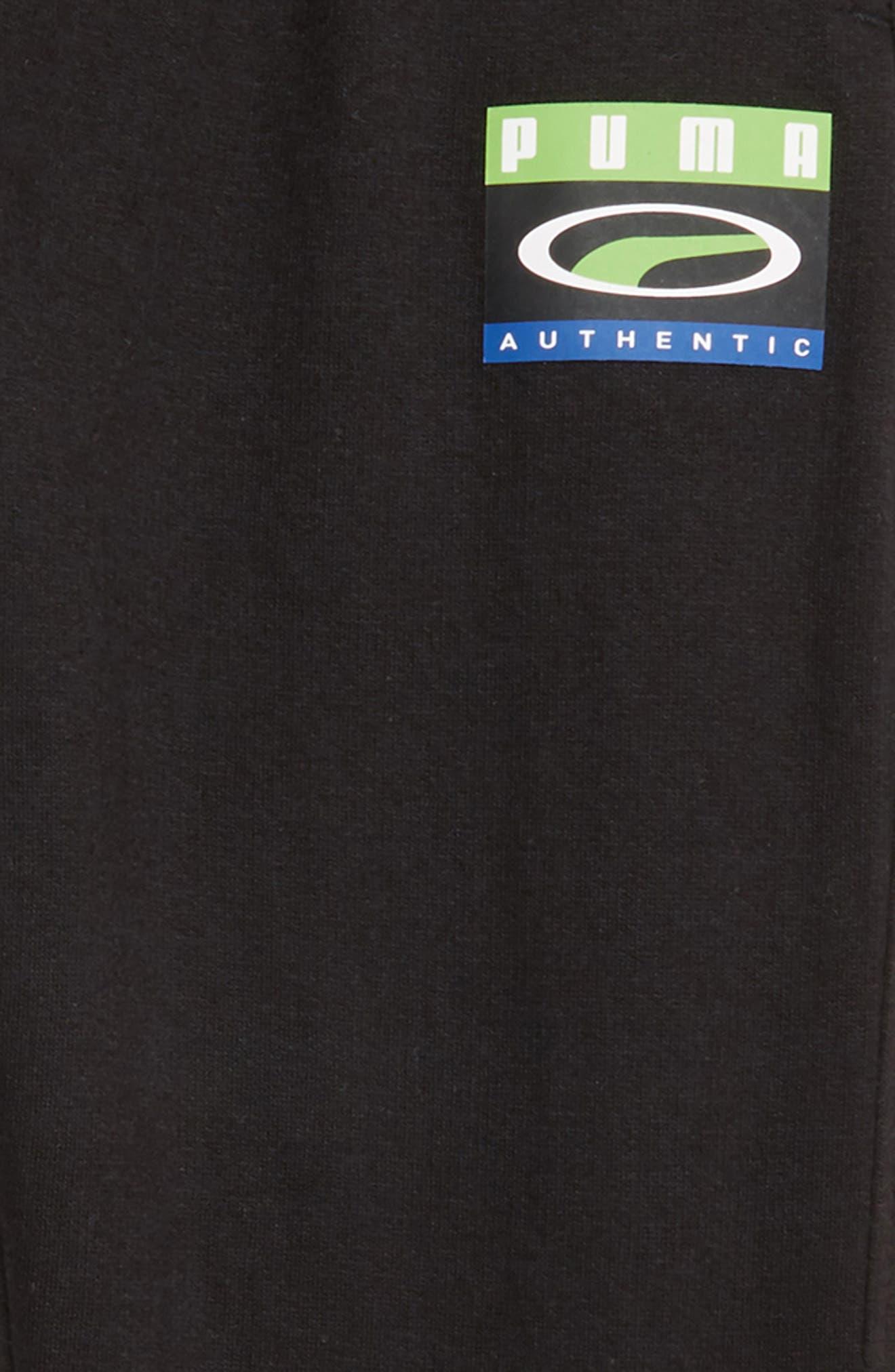 PUMA,                             Cotton Fleece Tapered Pants,                             Alternate thumbnail 2, color,                             PUMA BLACK