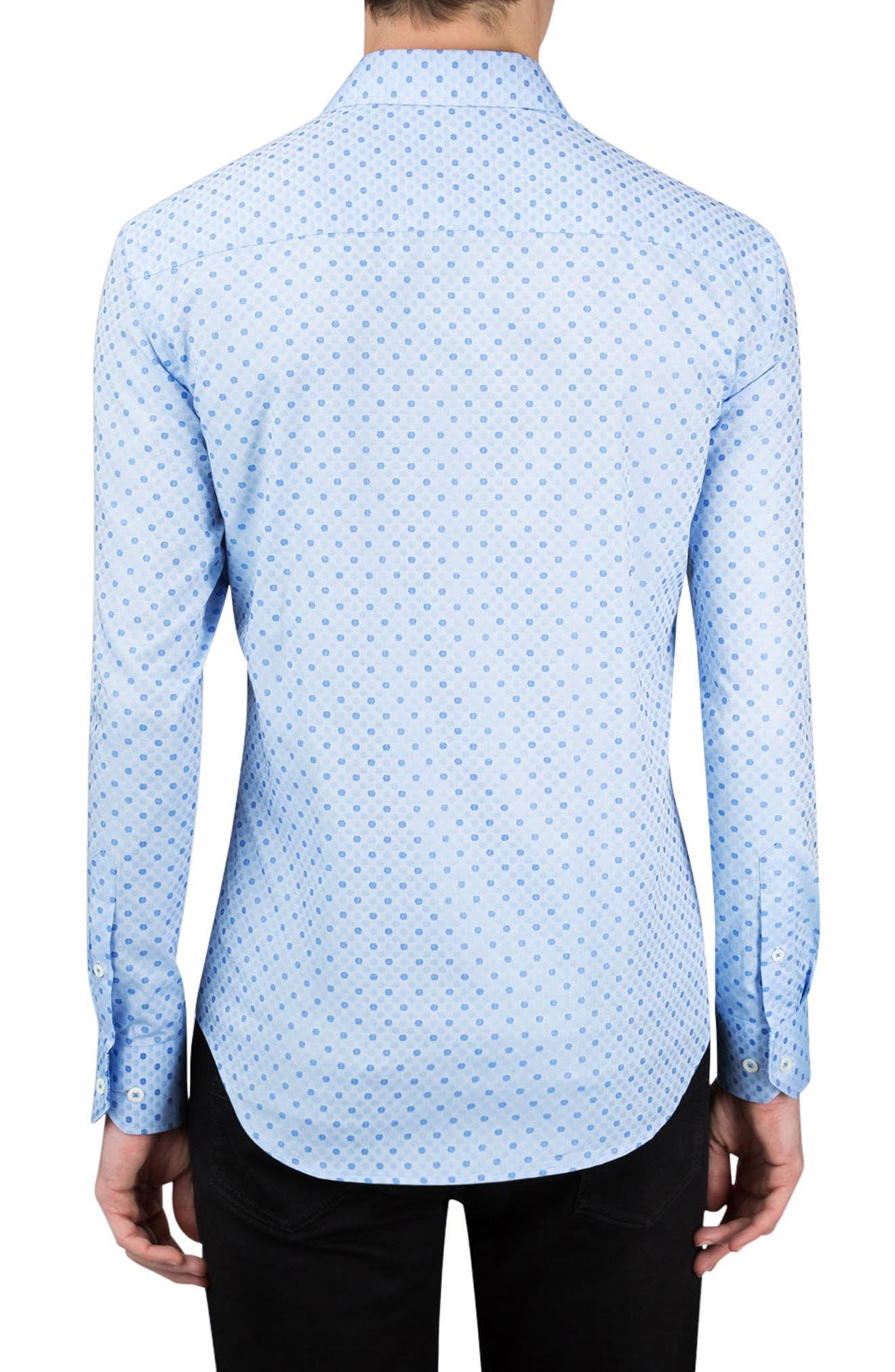 Shaped Fit Dot Sport Shirt,                             Alternate thumbnail 2, color,