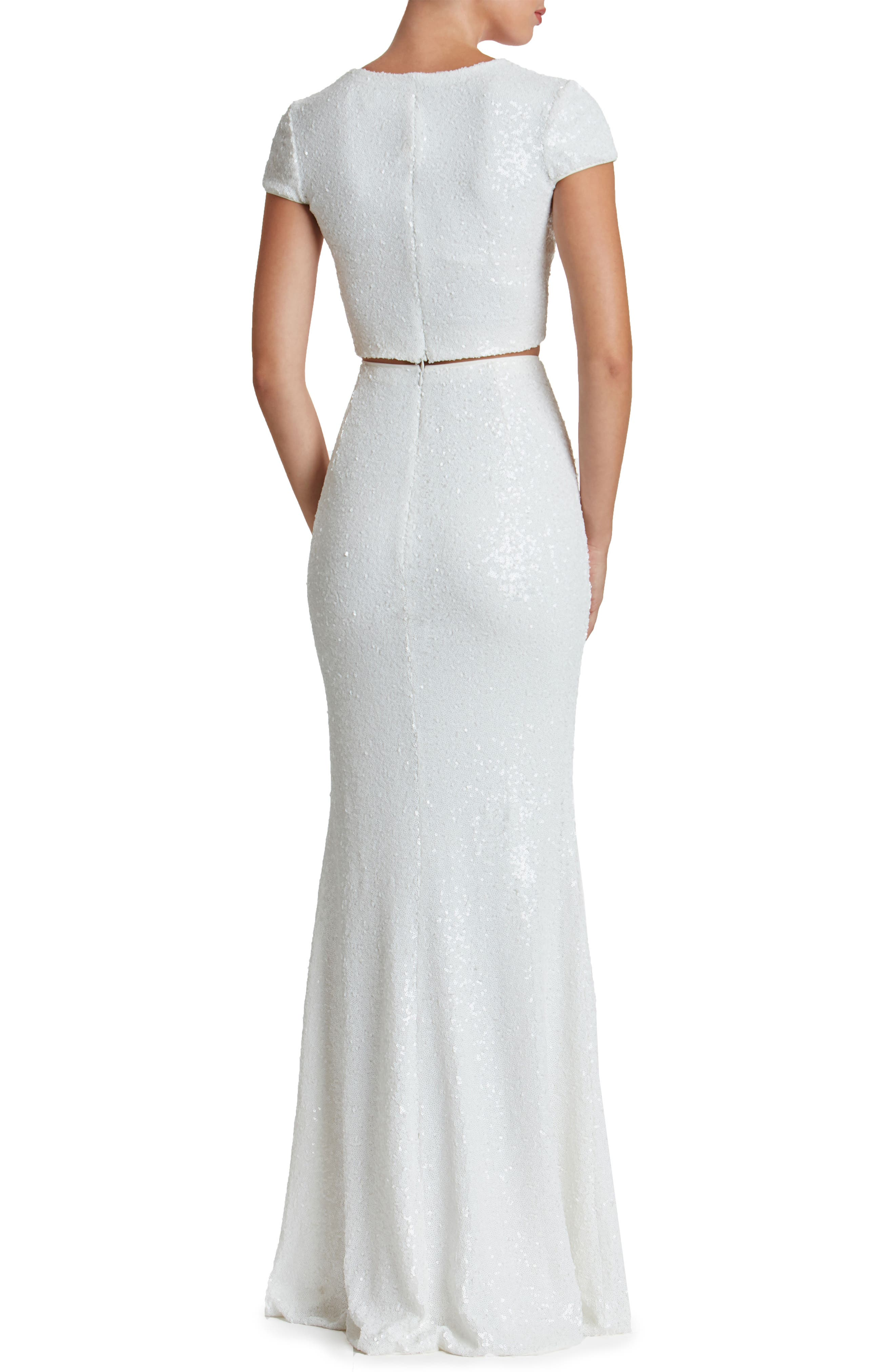 Cara Two-Piece Gown,                             Alternate thumbnail 5, color,