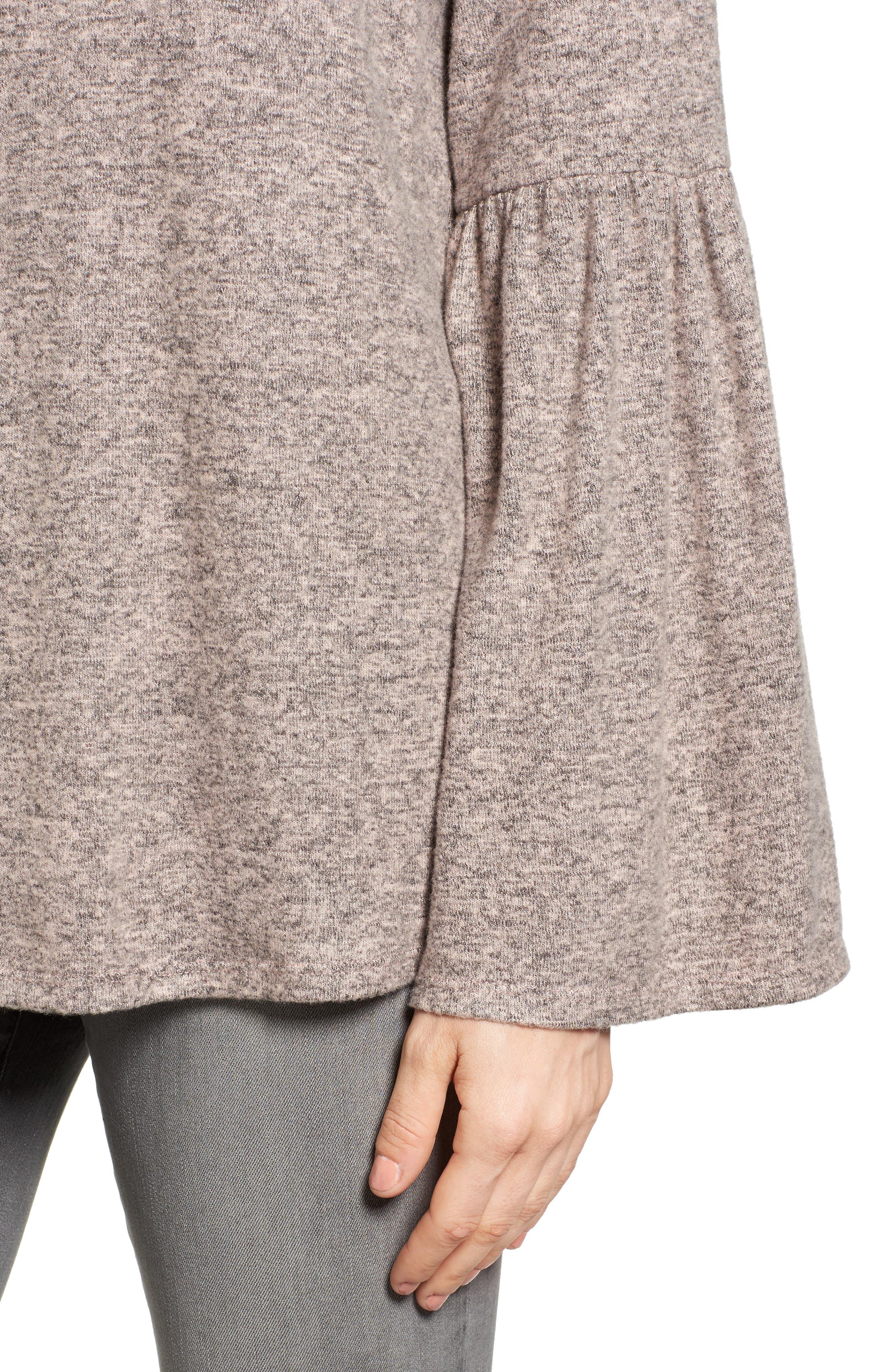 Bell Sleeve Cozy Fleece Pullover,                             Alternate thumbnail 47, color,