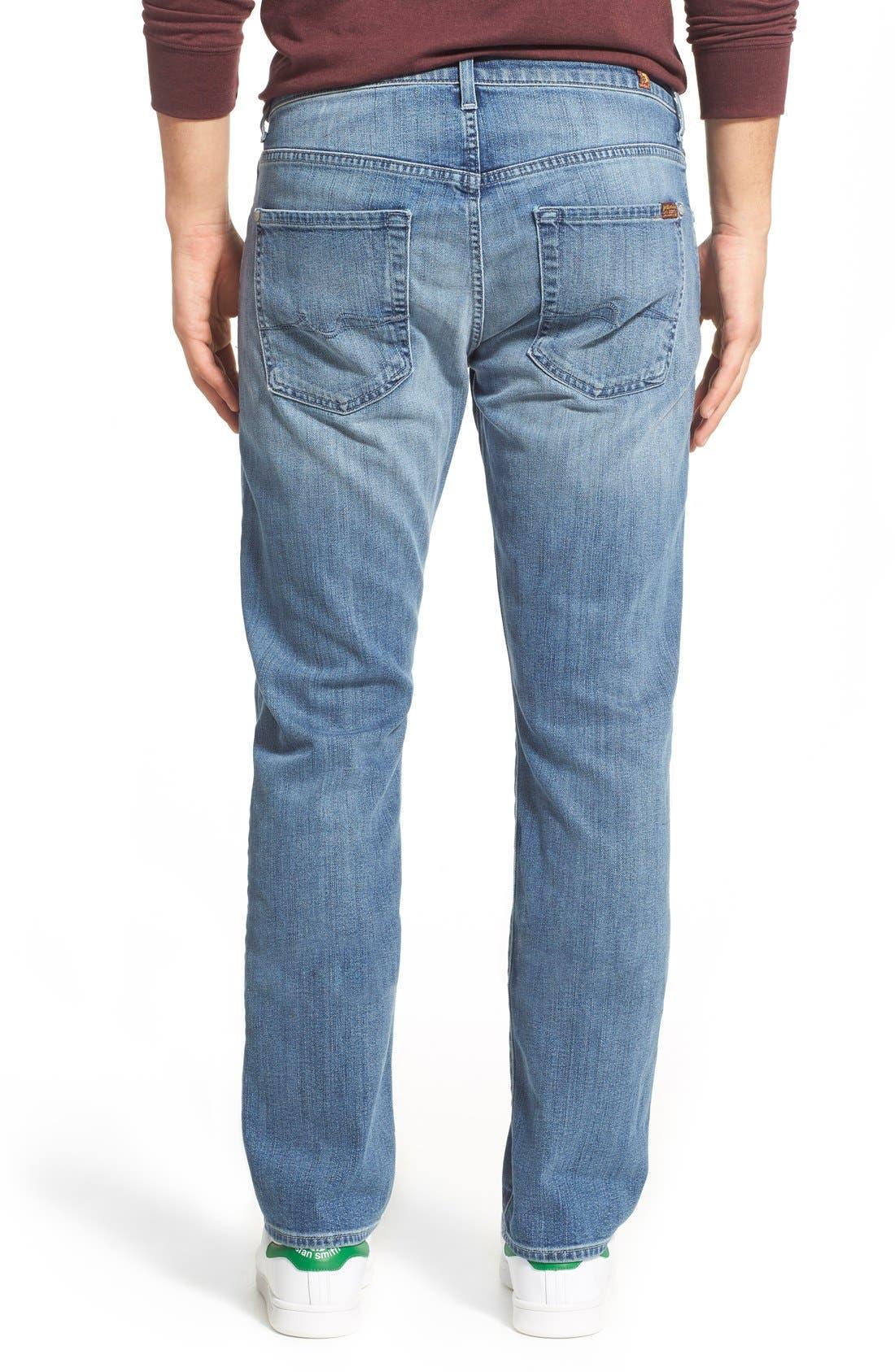'Straight - FoolProof' Slim Straight Leg Jeans,                             Alternate thumbnail 2, color,                             402