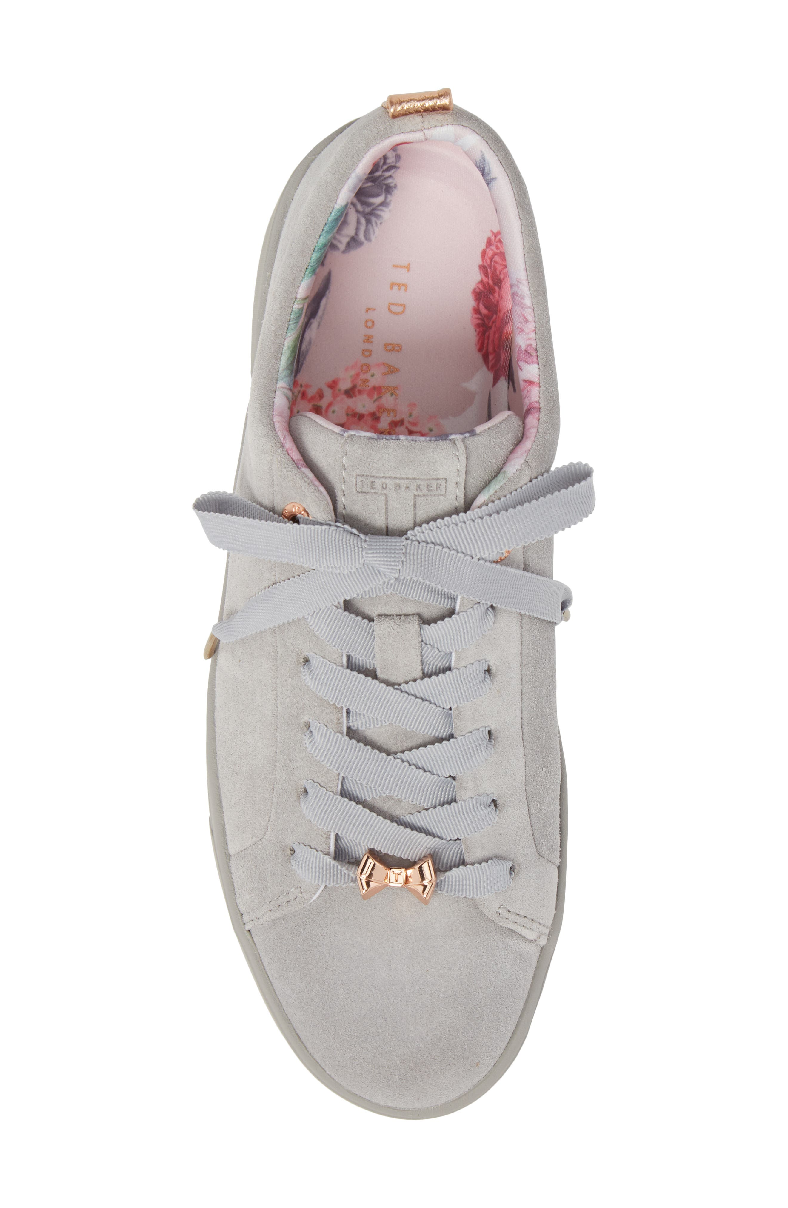 Kelleis Sneaker,                             Alternate thumbnail 5, color,                             LIGHT GREY SUEDE