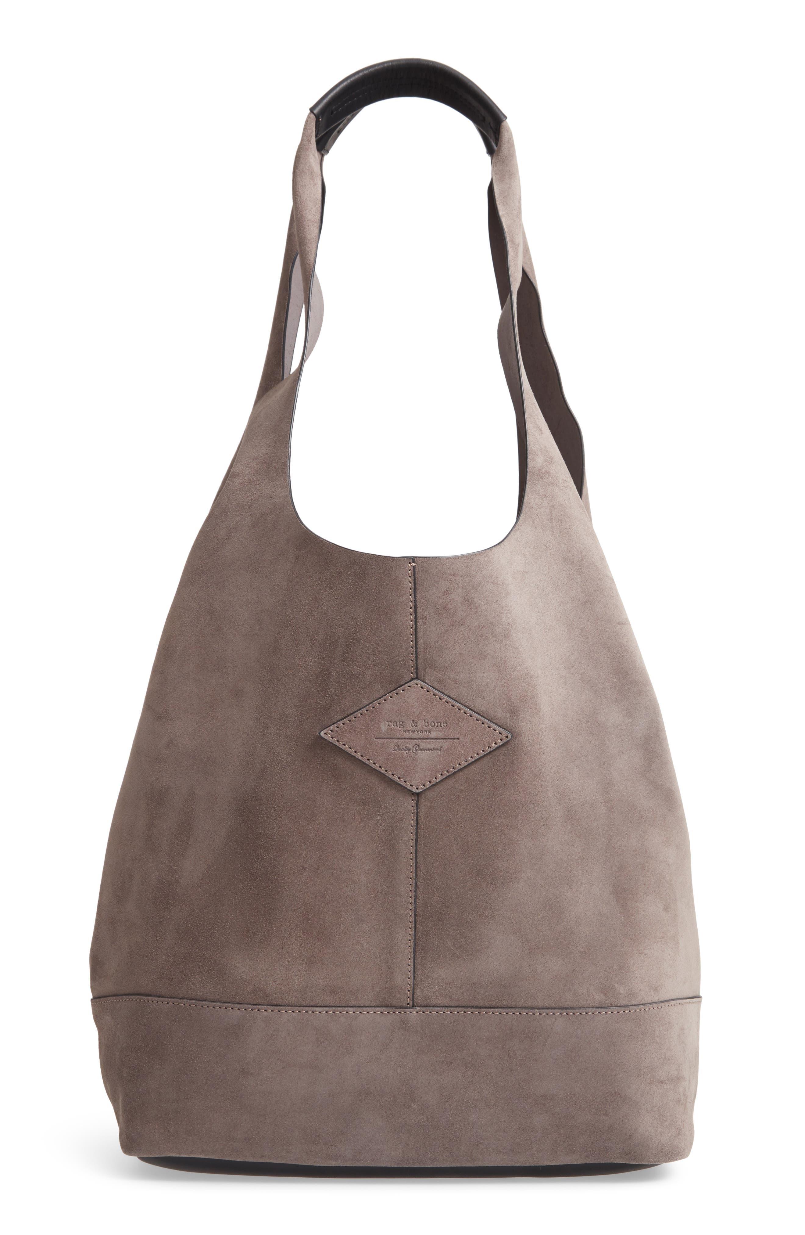 Camden Shopper Bag,                         Main,                         color, ELEPHANT SUEDE