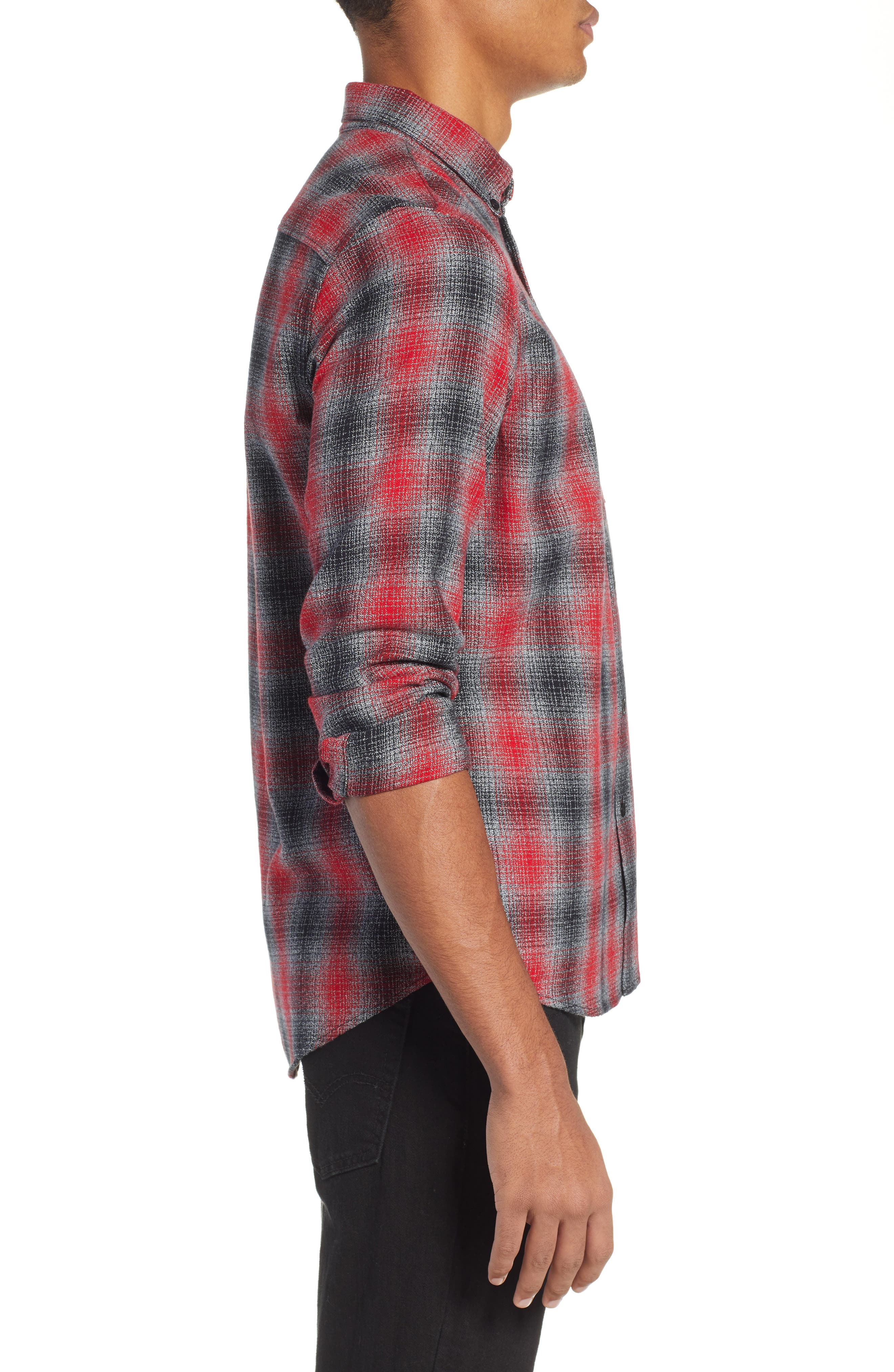 LEVI'S<SUP>®</SUP> MADE & CRAFTED<SUP>™</SUP>,                             Standard Plaid Sport Shirt,                             Alternate thumbnail 4, color,                             800