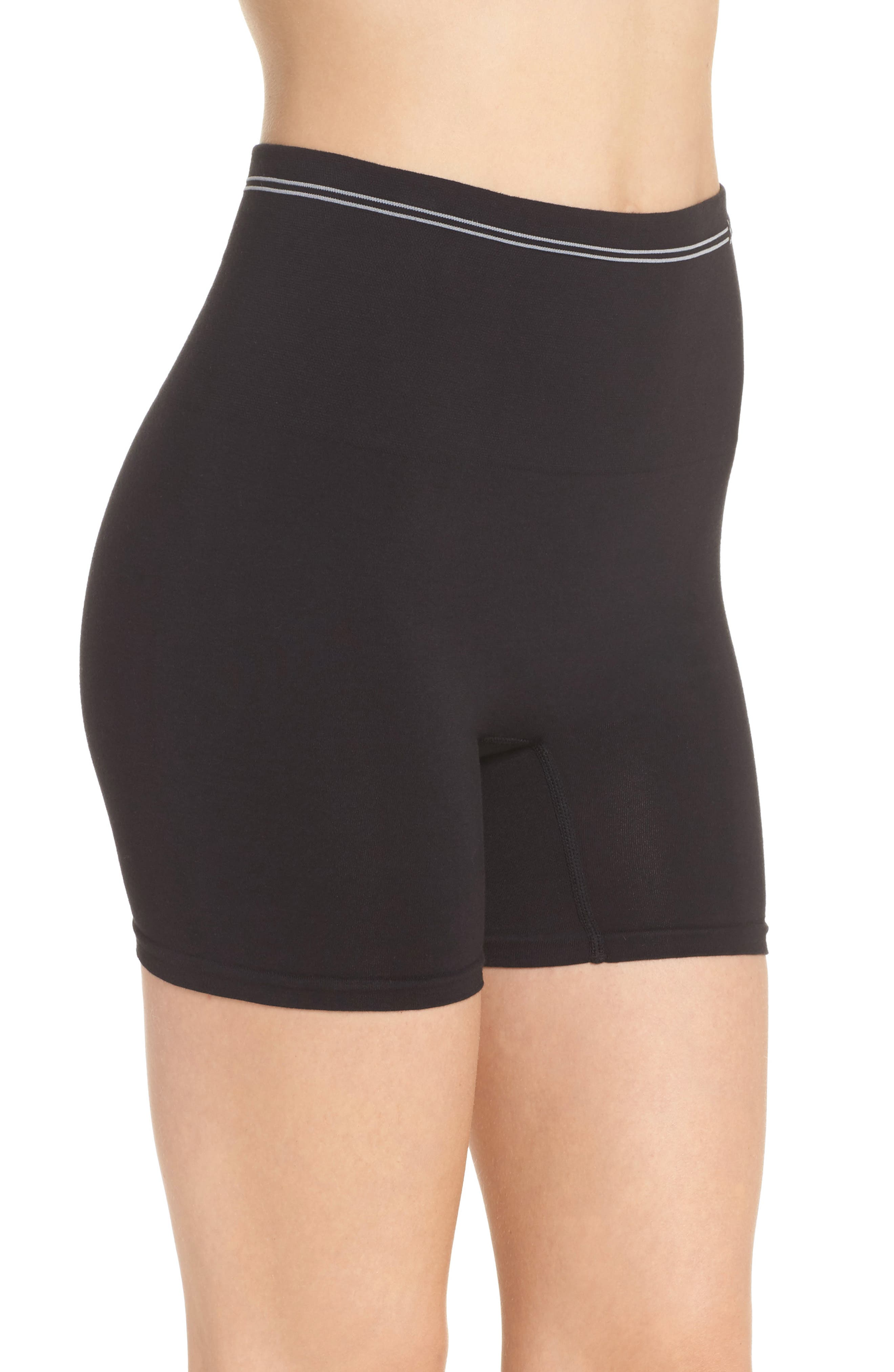 YUMMIE,                             Seamless Shaping Shorts,                             Alternate thumbnail 3, color,                             001