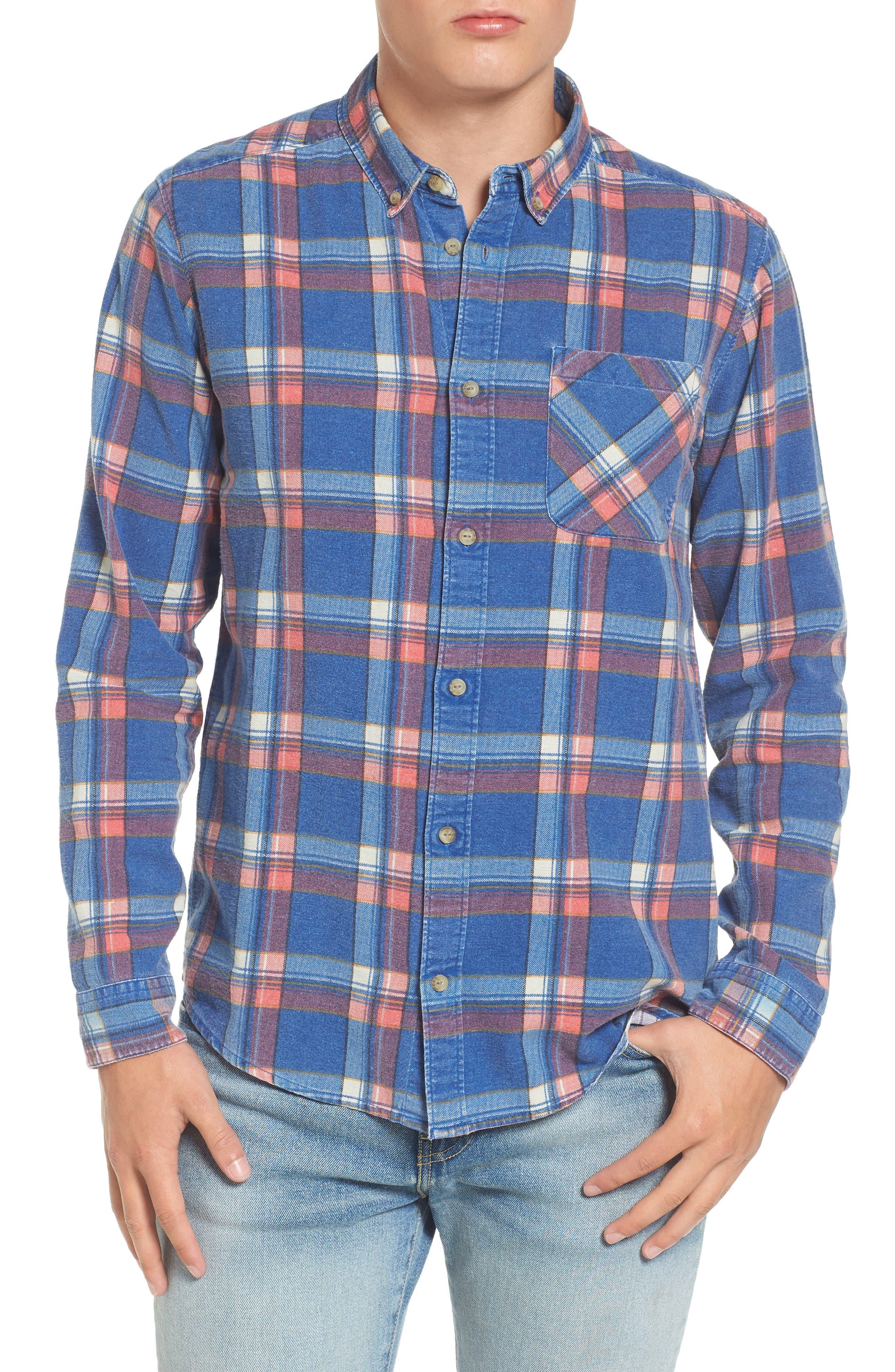 x Kevin Long Plaid Shirt,                         Main,                         color, 462