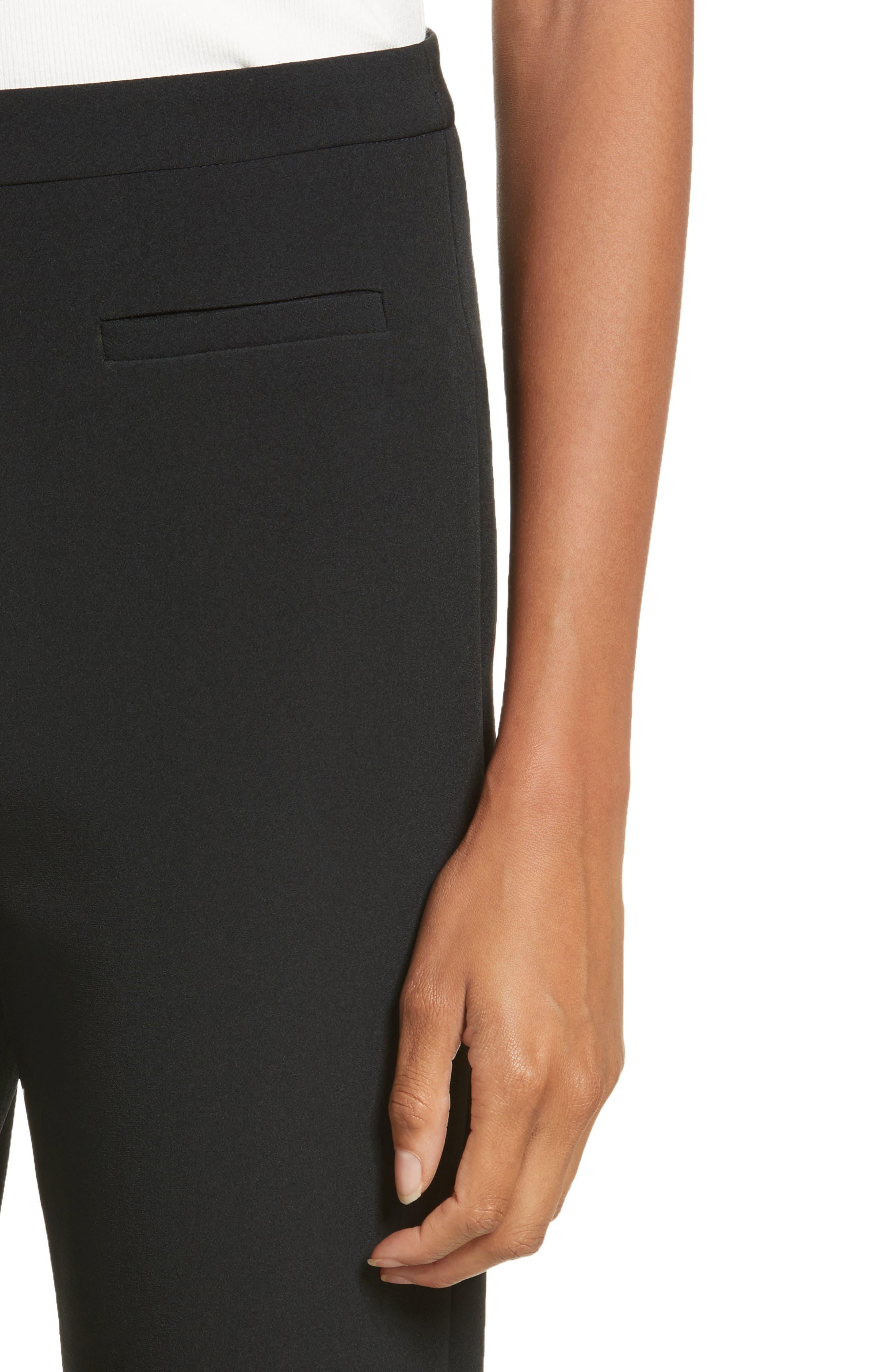 Stretch Crepe High Waist Skinny Pants,                             Alternate thumbnail 4, color,                             001