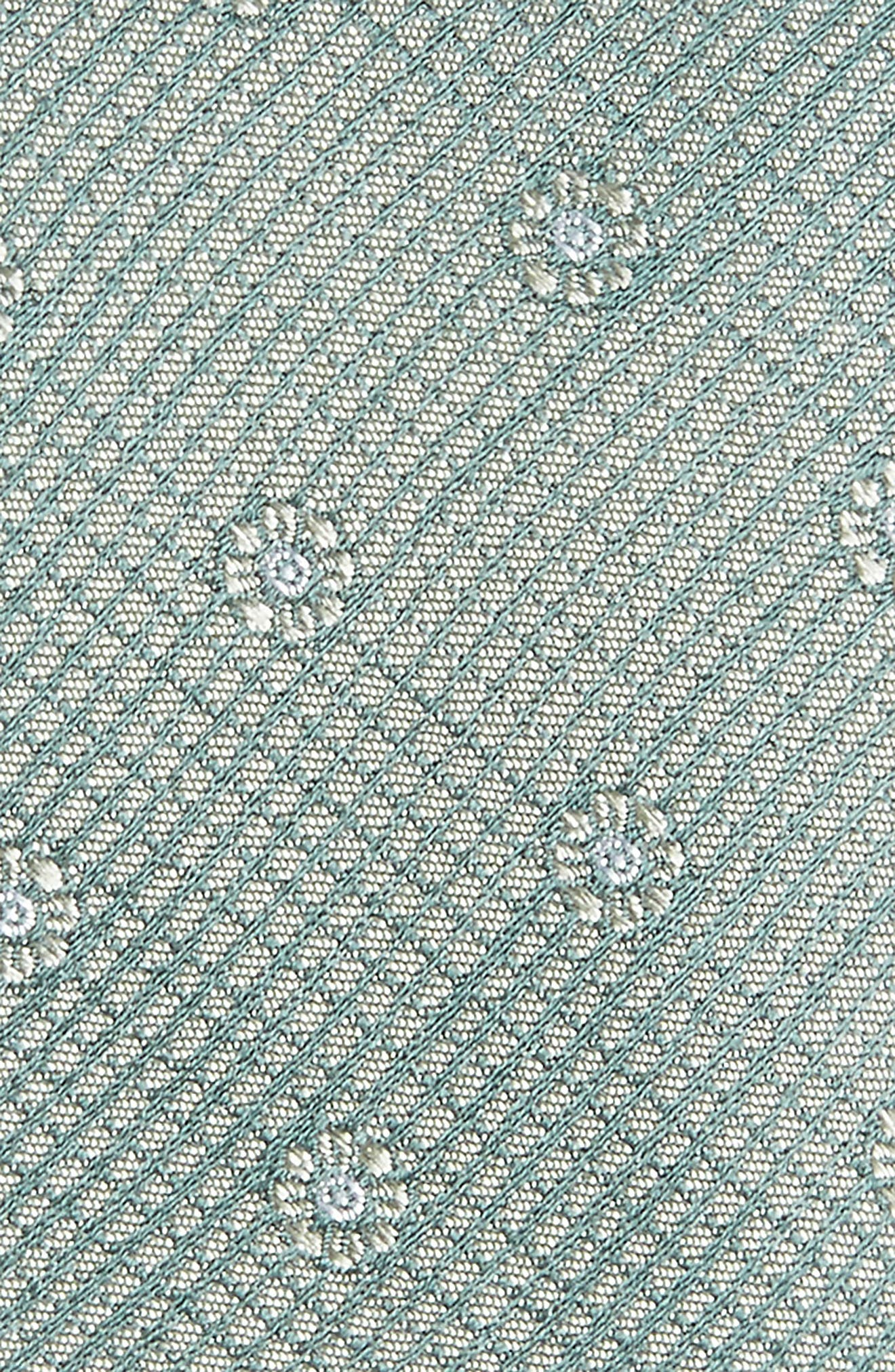 Fleur Medallion Silk Skinny Tie,                             Alternate thumbnail 2, color,                             300