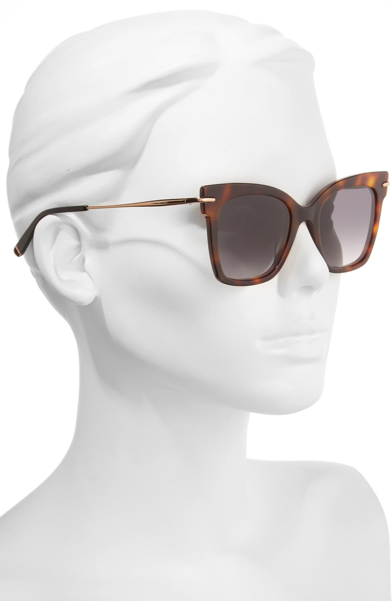 Needliv 49mm Gradient Cat Eye Sunglasses,                             Alternate thumbnail 2, color,                             001