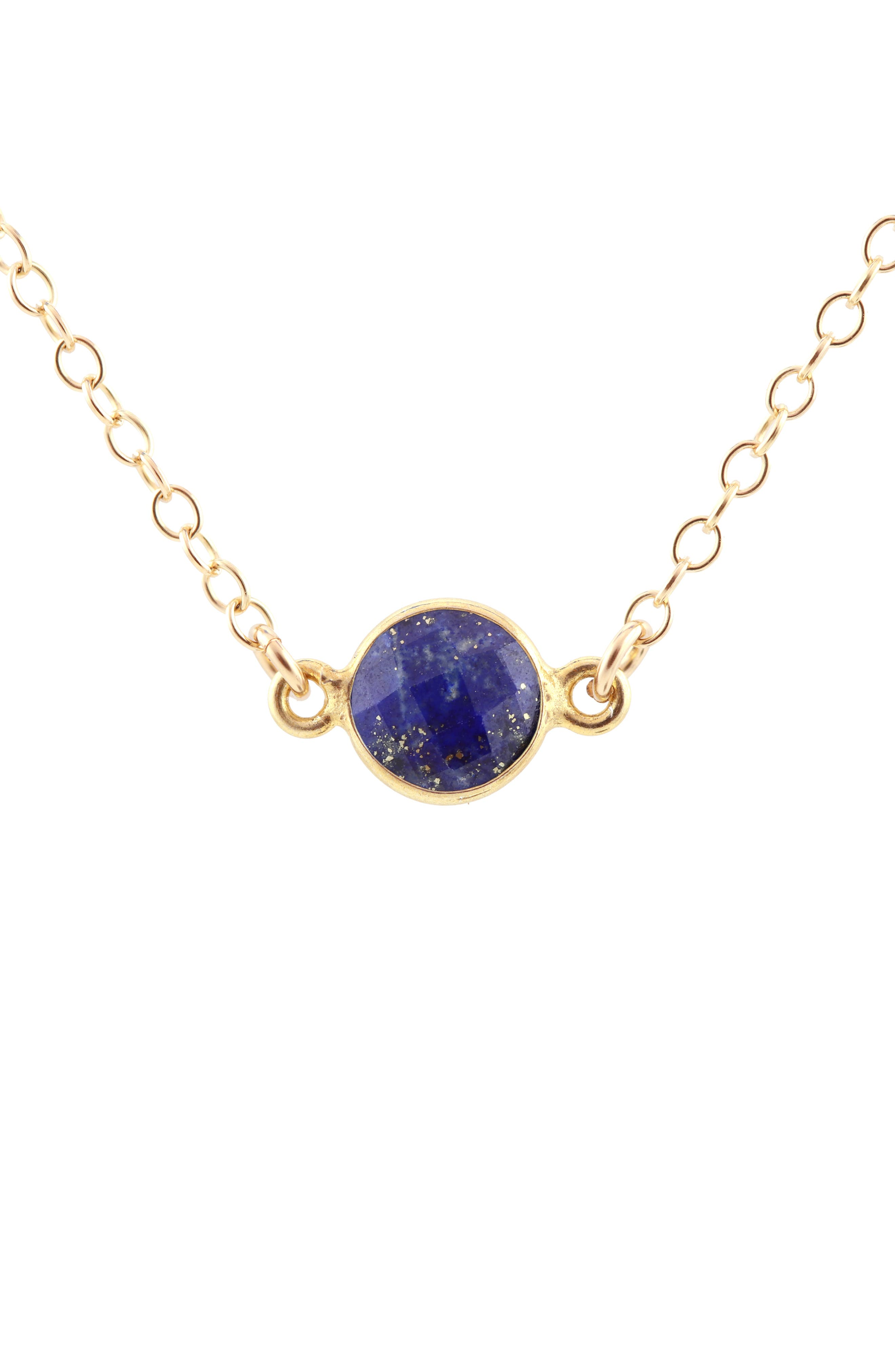 KRIS NATIONS,                             Birthstone Necklace,                             Main thumbnail 1, color,                             SEPTEMBER - SAPPHIRE