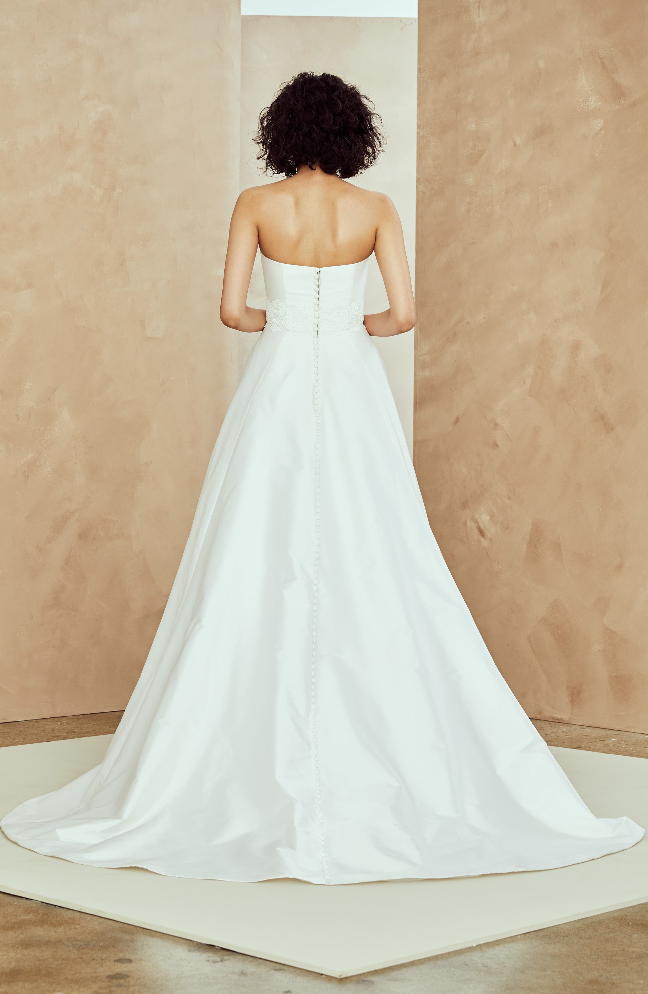 Ana Strapless Ballgown,                             Alternate thumbnail 2, color,                             IVORY