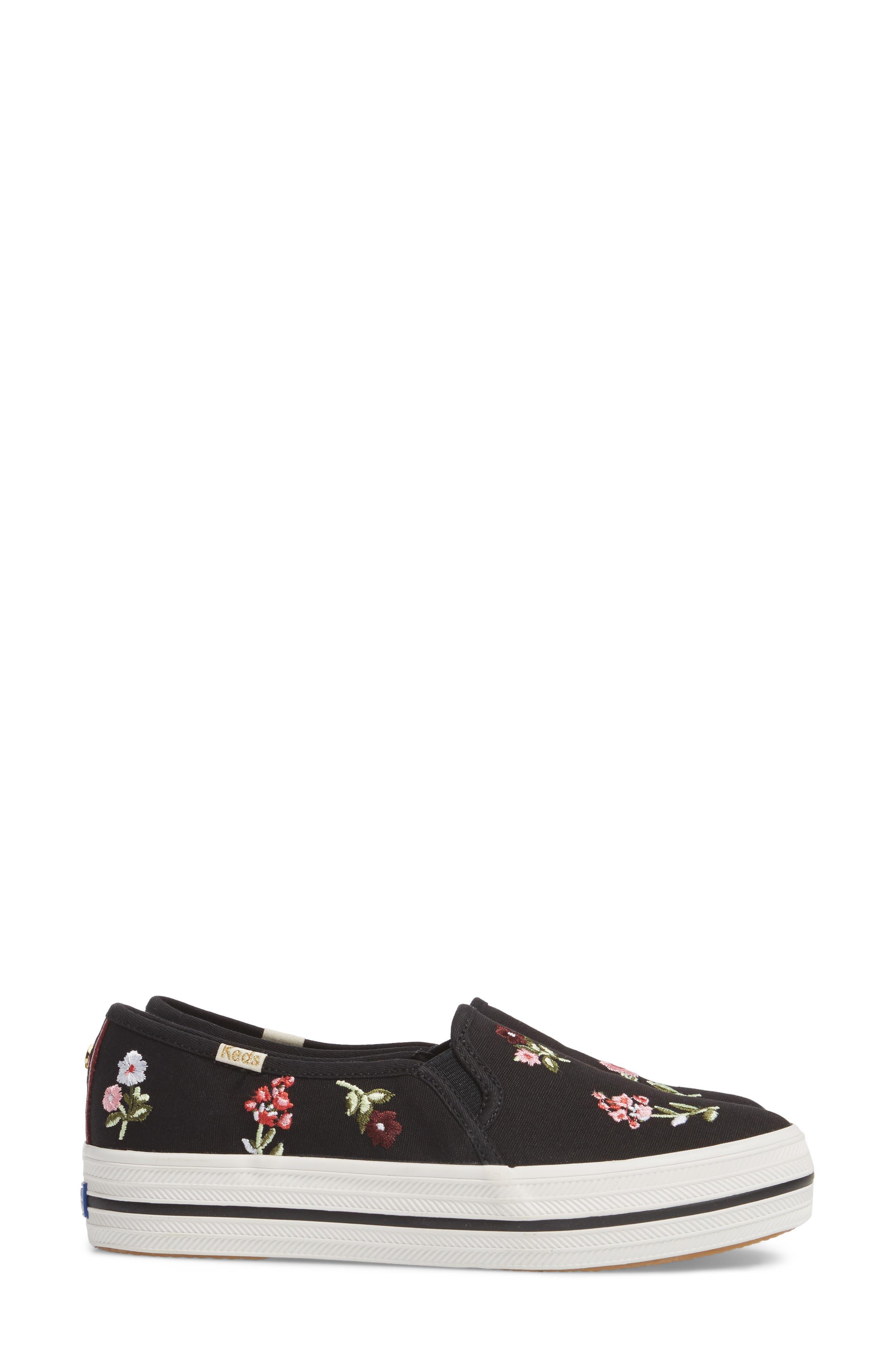 Keds<sup>®</sup> x kate spade Triple Decker Slip-On Sneaker,                             Alternate thumbnail 6, color,