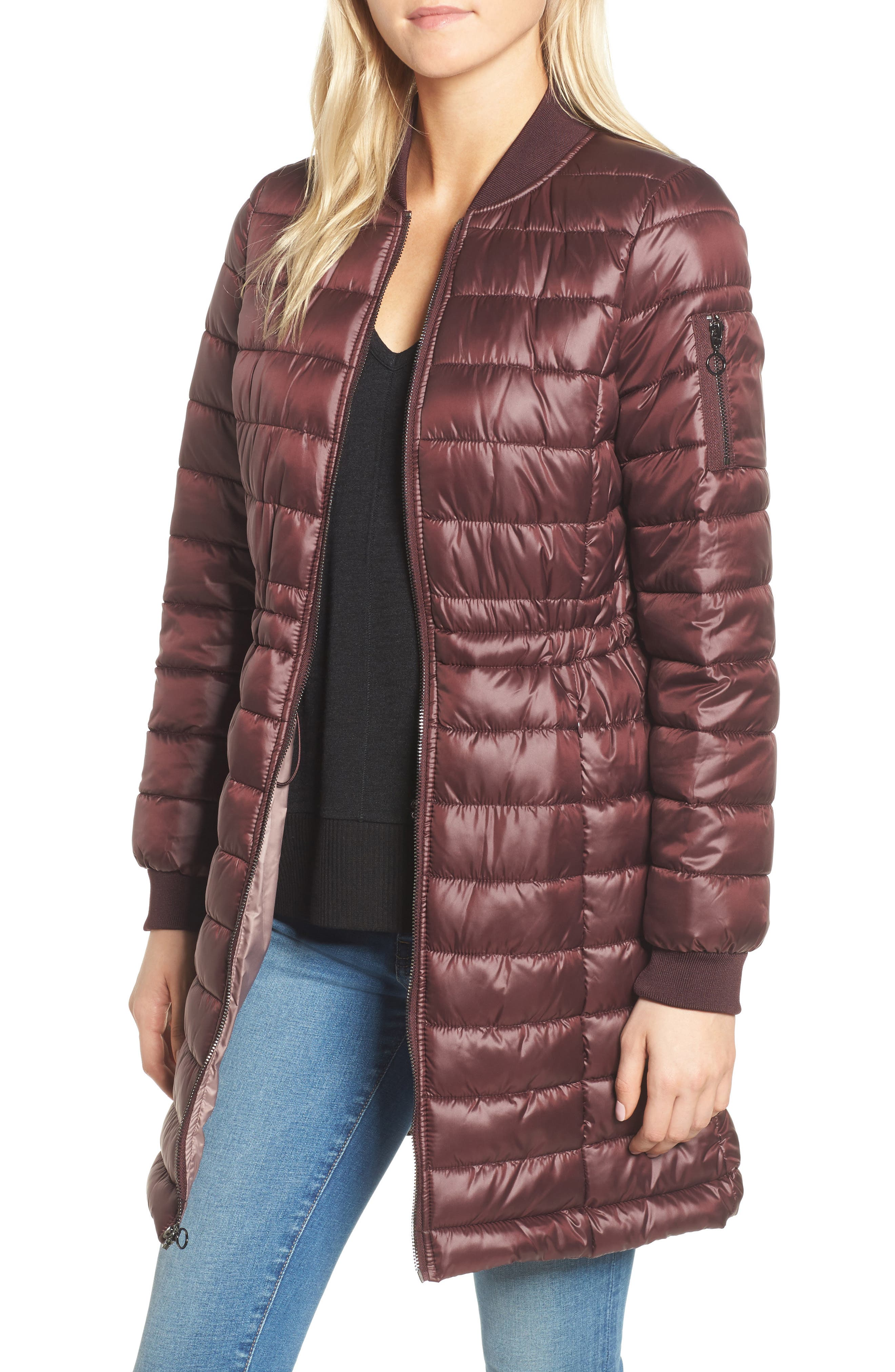 Lightweight Quilted Puffer Coat,                             Main thumbnail 4, color,
