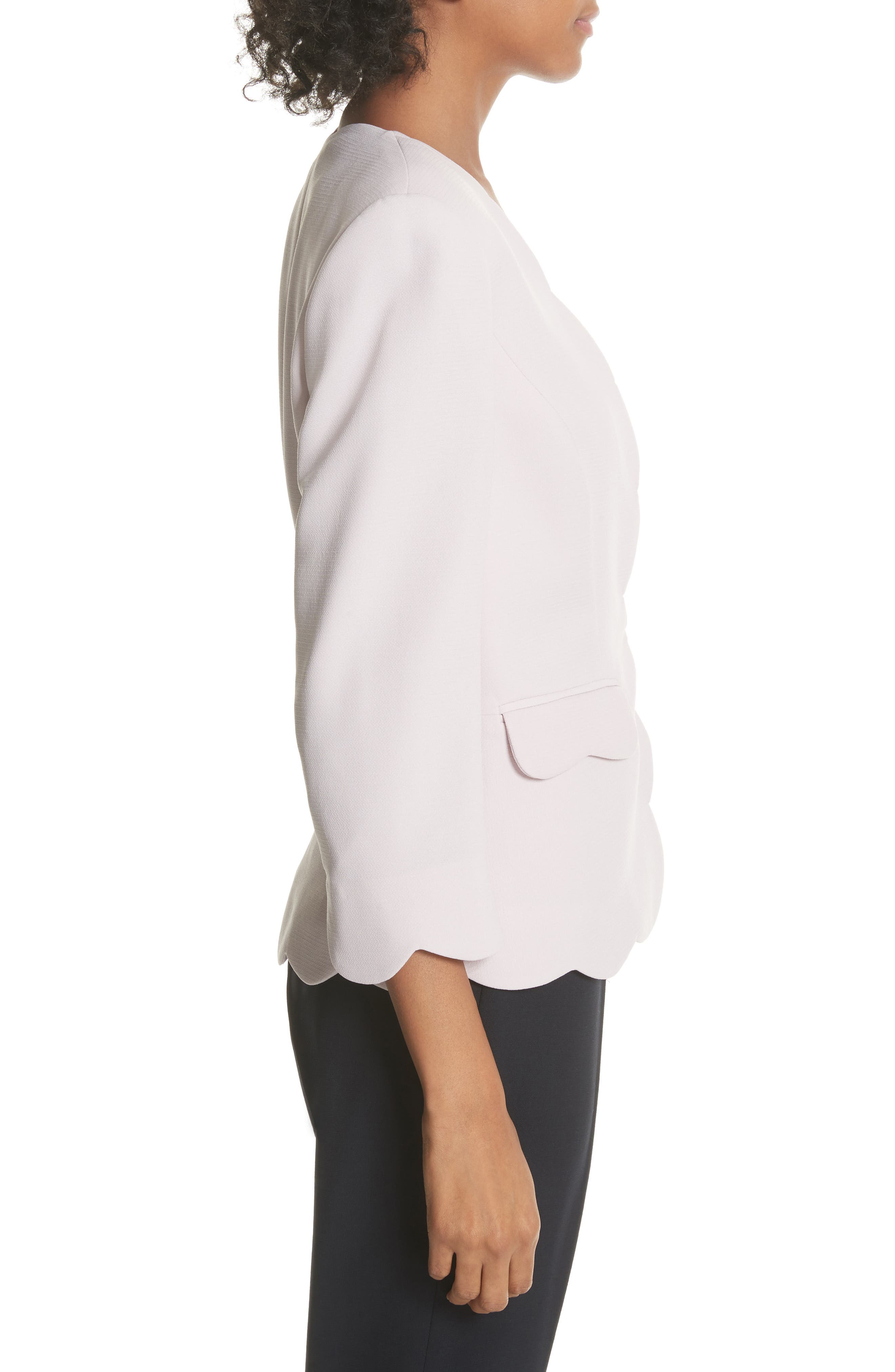 Scalloped Blazer,                             Alternate thumbnail 6, color,