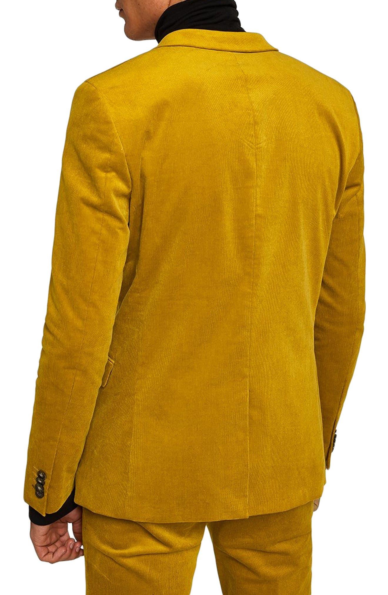 TOPMAN,                             Corduroy Super Skinny Suit Jacket,                             Alternate thumbnail 2, color,                             700