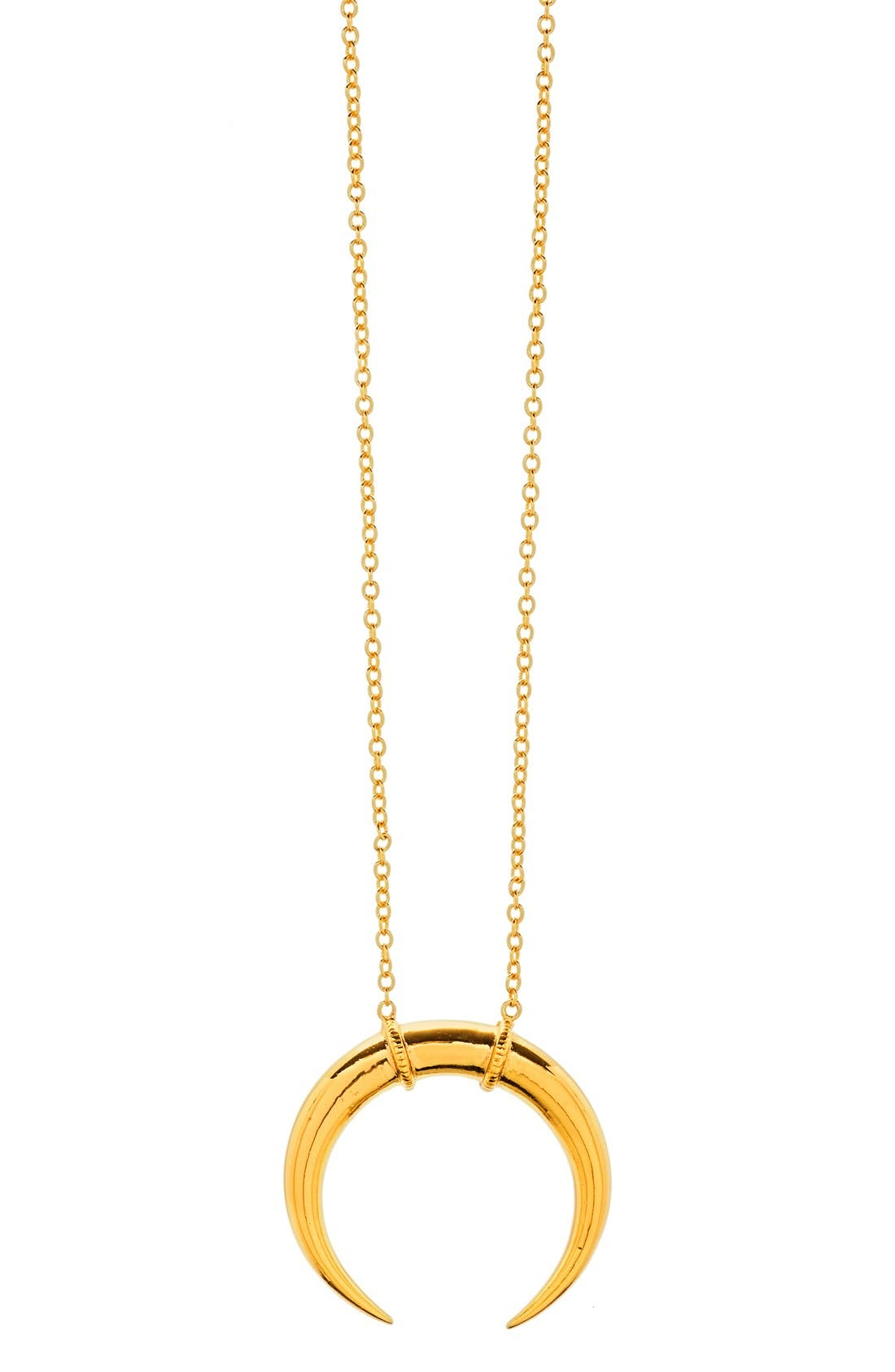 'Cayne' Crescent Pendant Necklace,                         Main,                         color, 710