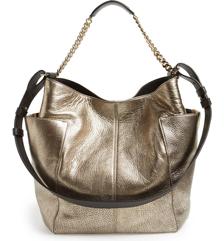 02adf64a75 Jimmy Choo  Anna  Metallic Leather Hobo