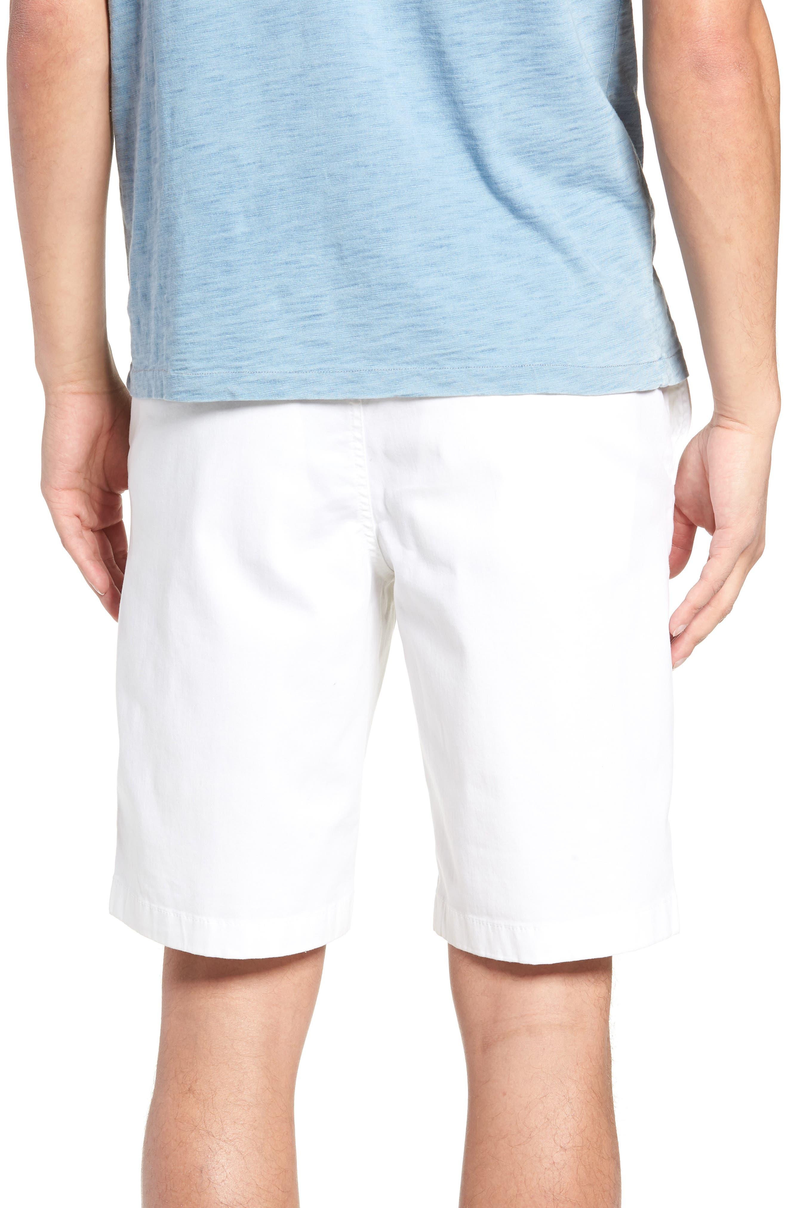 Flat Front Shorts,                             Alternate thumbnail 2, color,                             WHITE