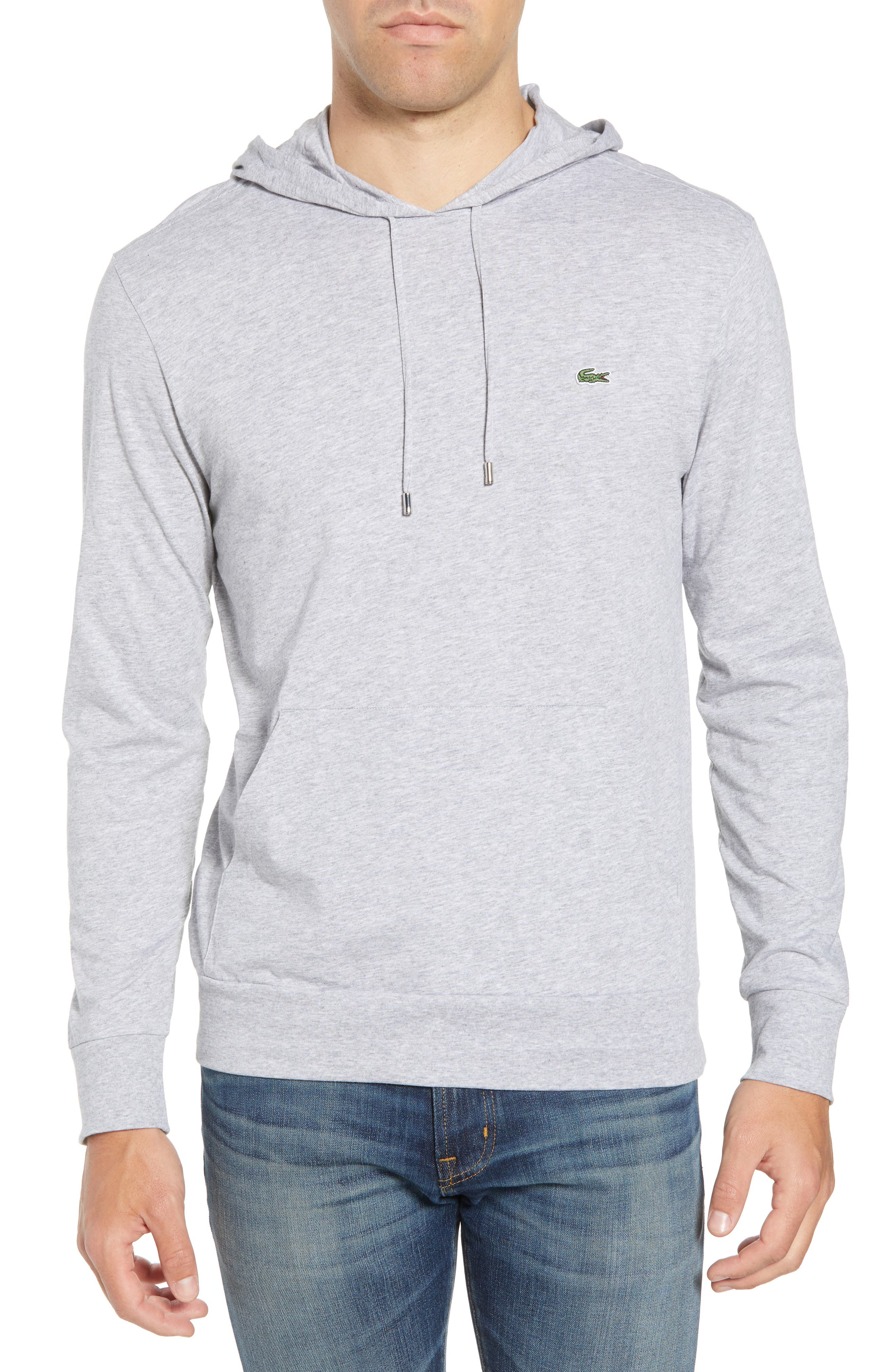 Pullover Hoodie,                         Main,                         color, SILVER CHINE