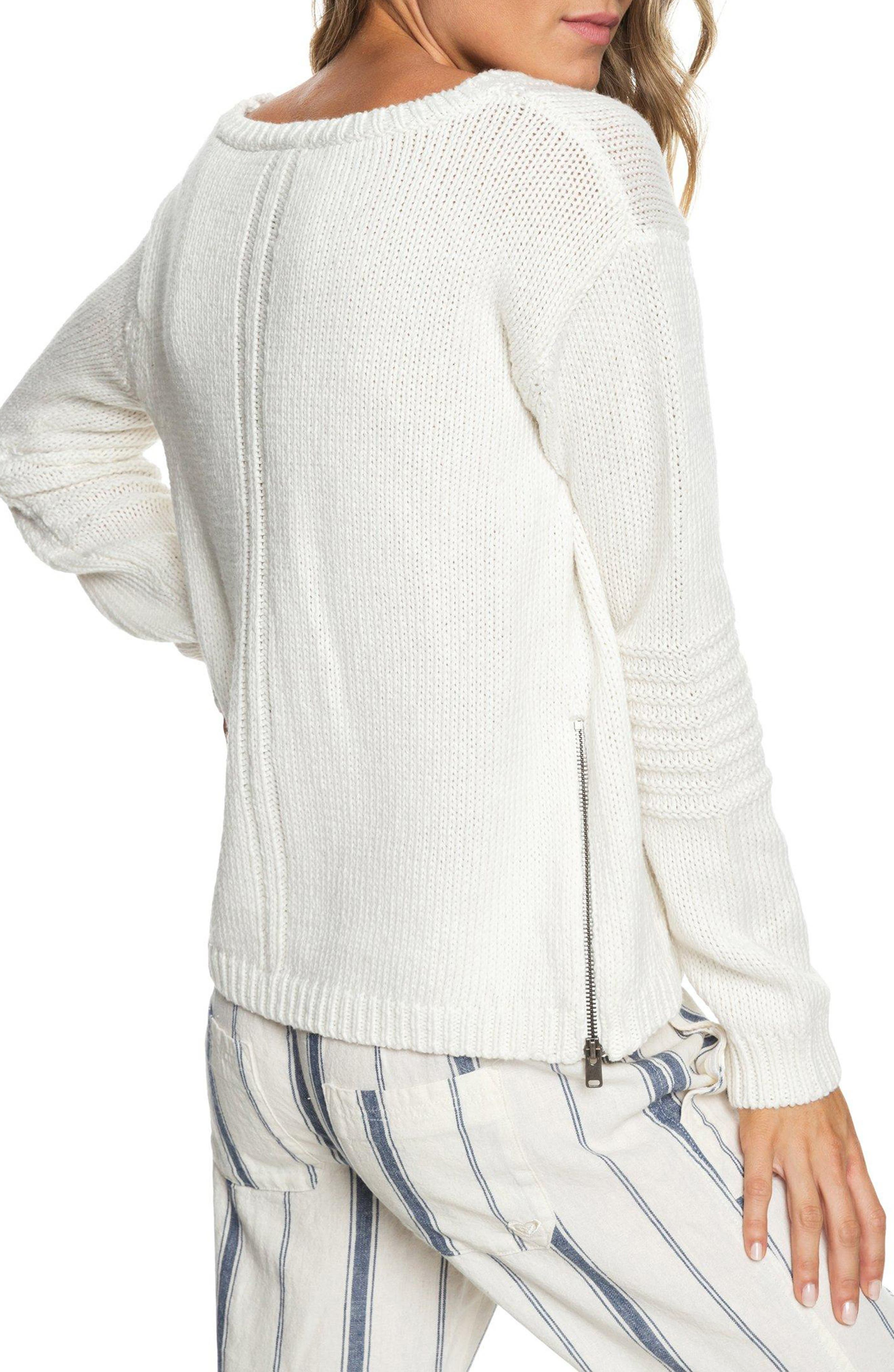 Glimpse of Romance Cable Knit Sweater,                             Alternate thumbnail 2, color,                             MARSHMALLOW