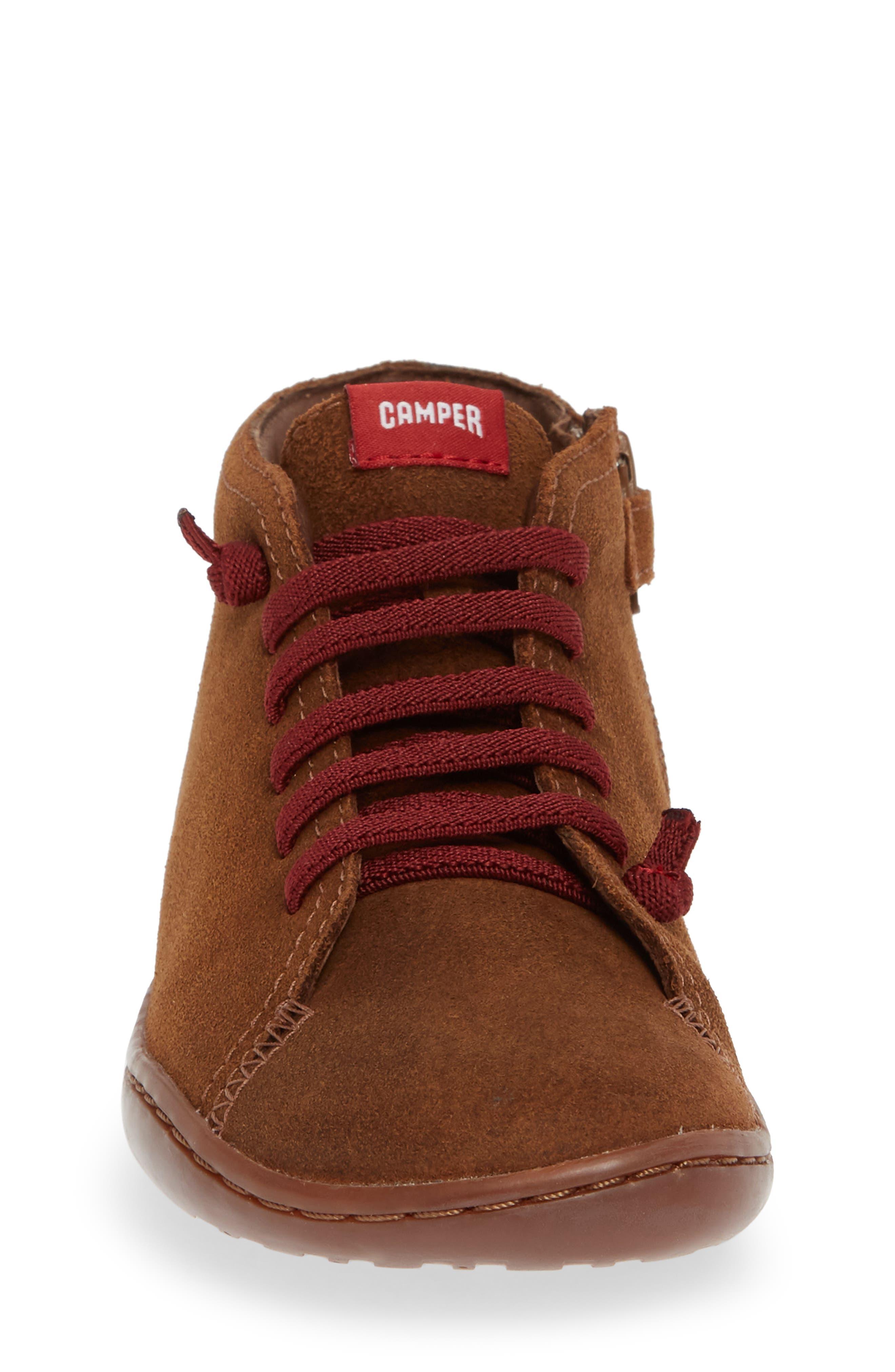 Peu Cami Sneaker,                             Alternate thumbnail 4, color,                             MEDIUM BROWN