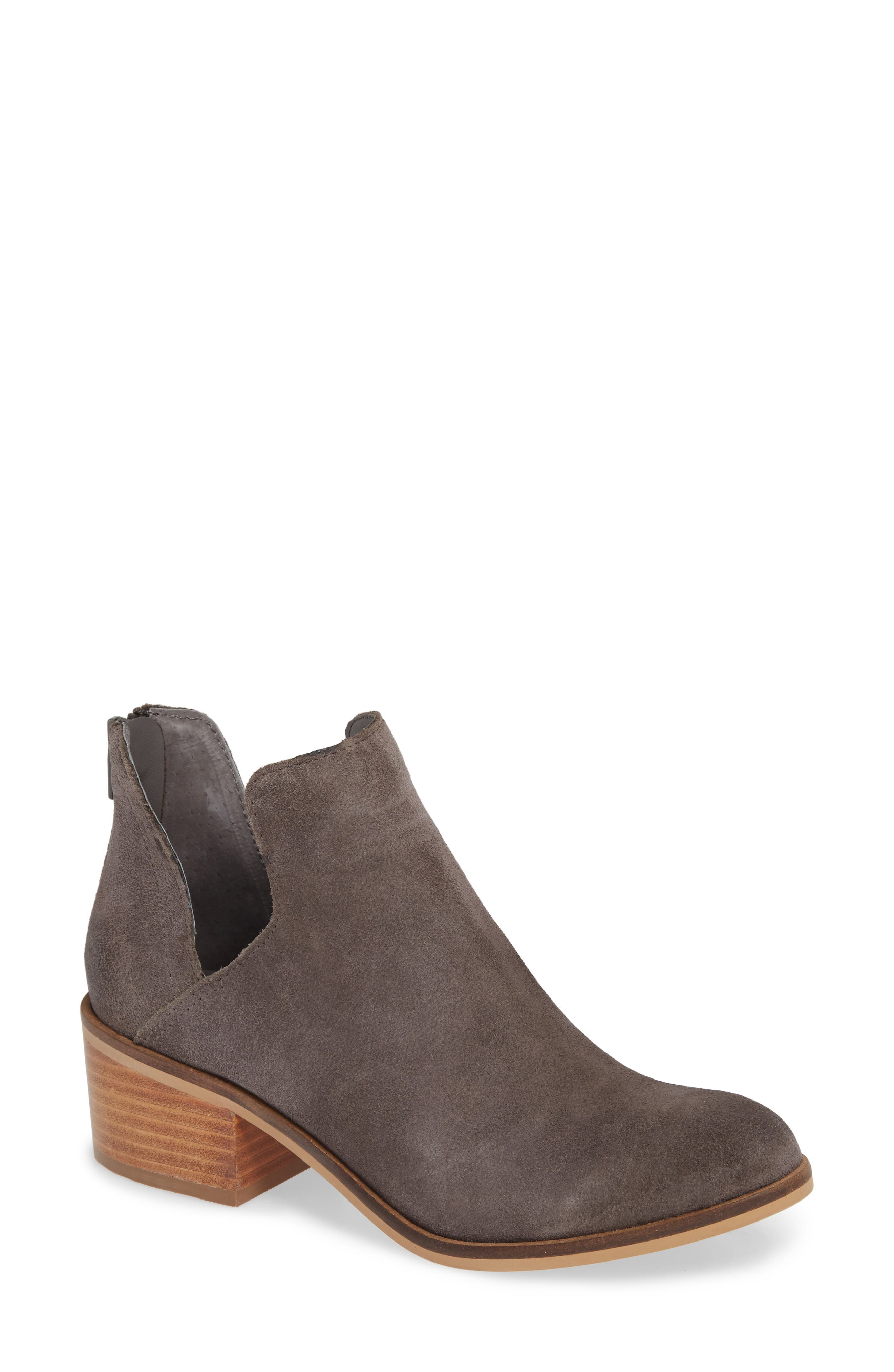 Lancaster Bootie,                             Main thumbnail 1, color,                             GREY SUEDE