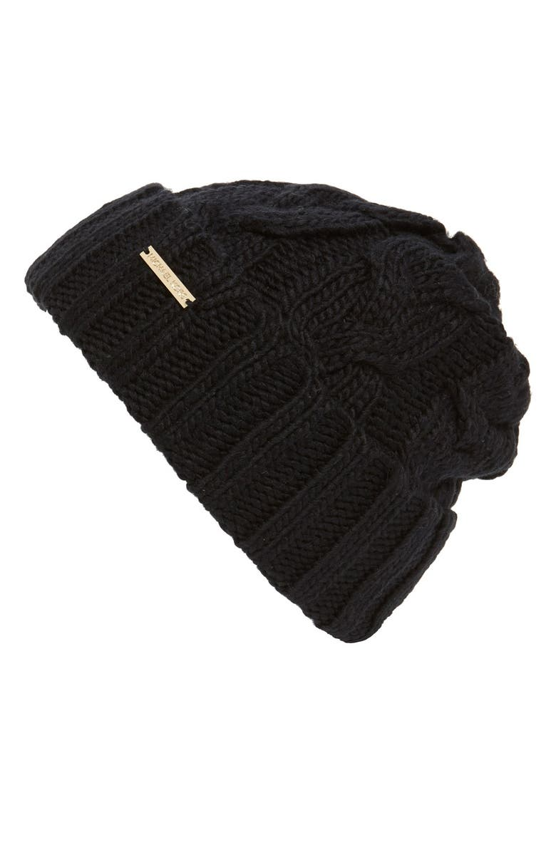 MICHAEL Michael Kors Cable Knit Cuff Beanie  ae3013642ee