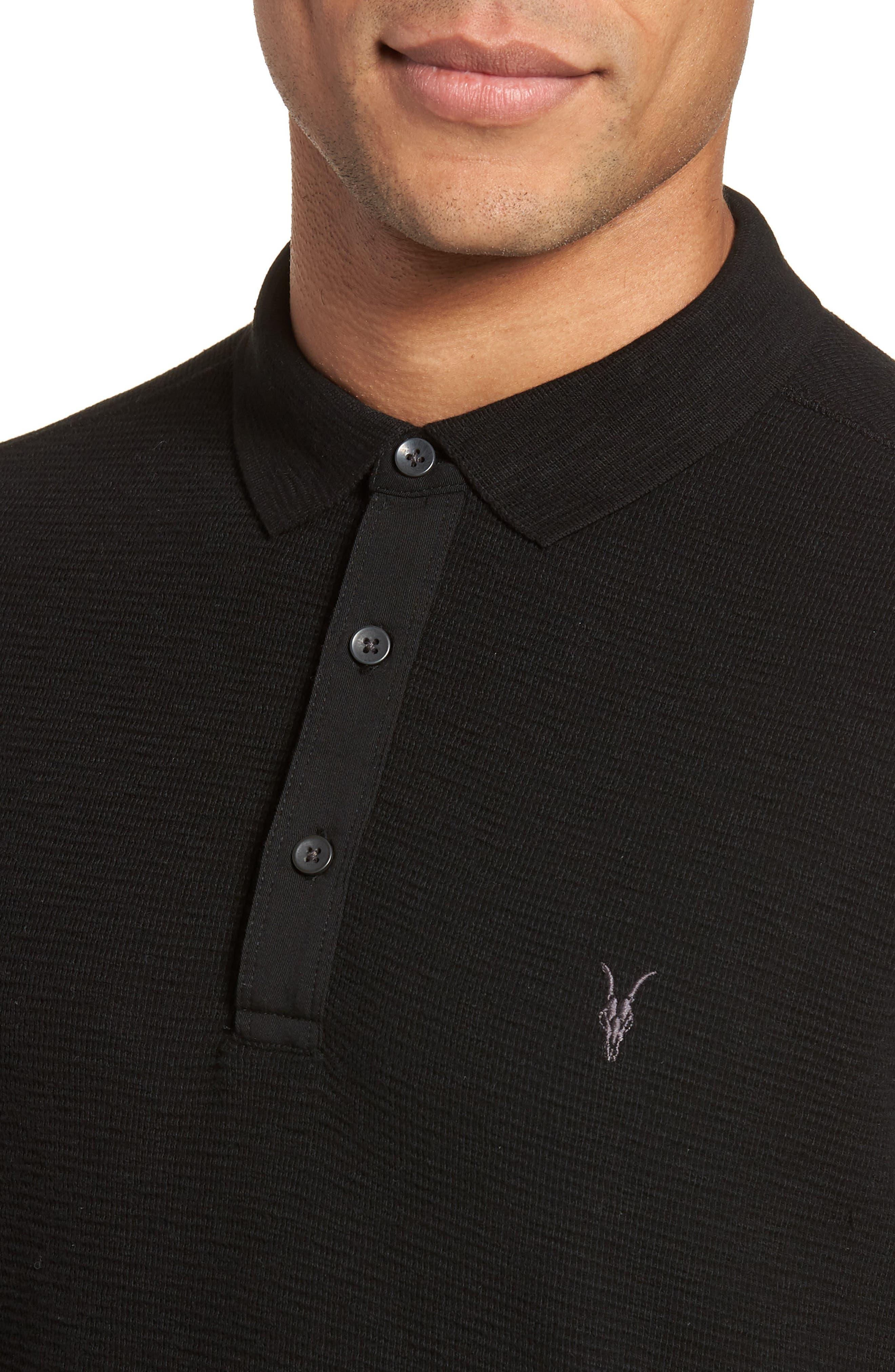 Clash Regular Fit Cotton Polo Shirt,                             Alternate thumbnail 4, color,                             003